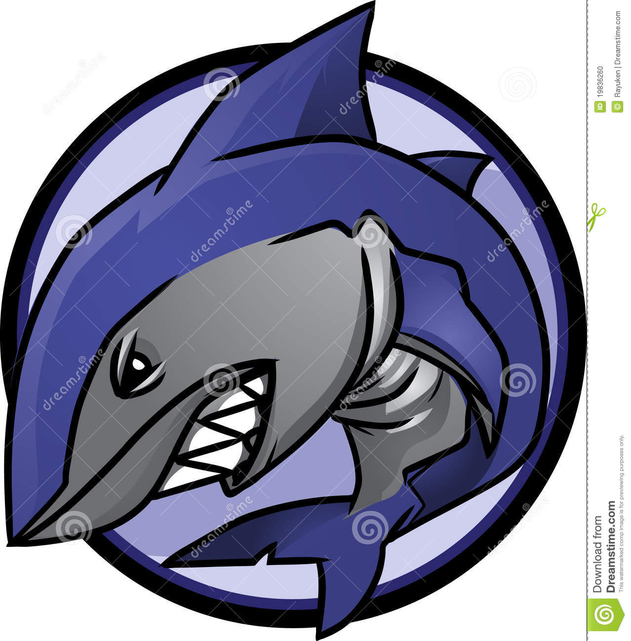 Shark Vector Logo Royalty Free Stock Photo - Image: 14145725