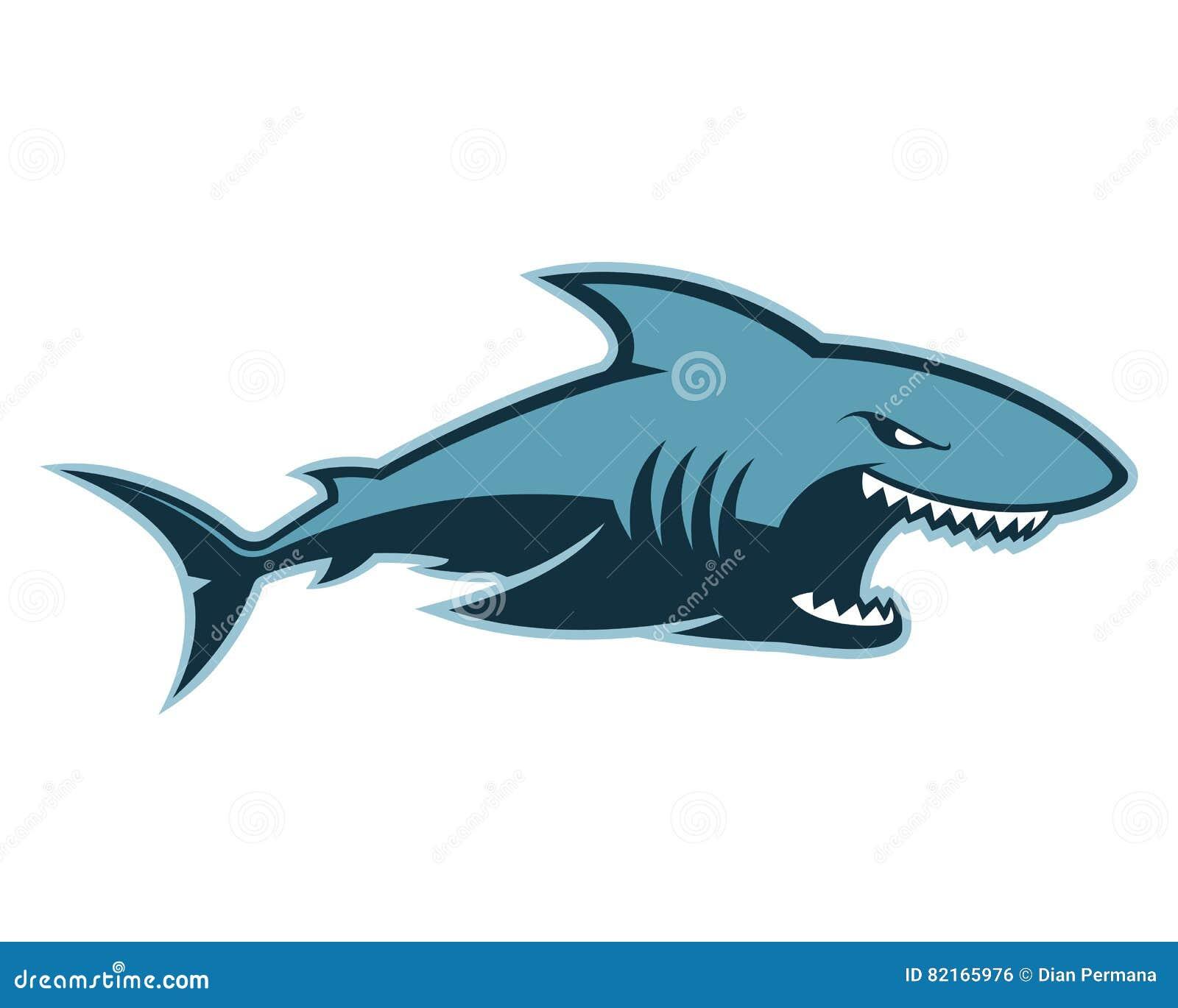 Shark Mascot Cartoon V... King Clip Art Black And White