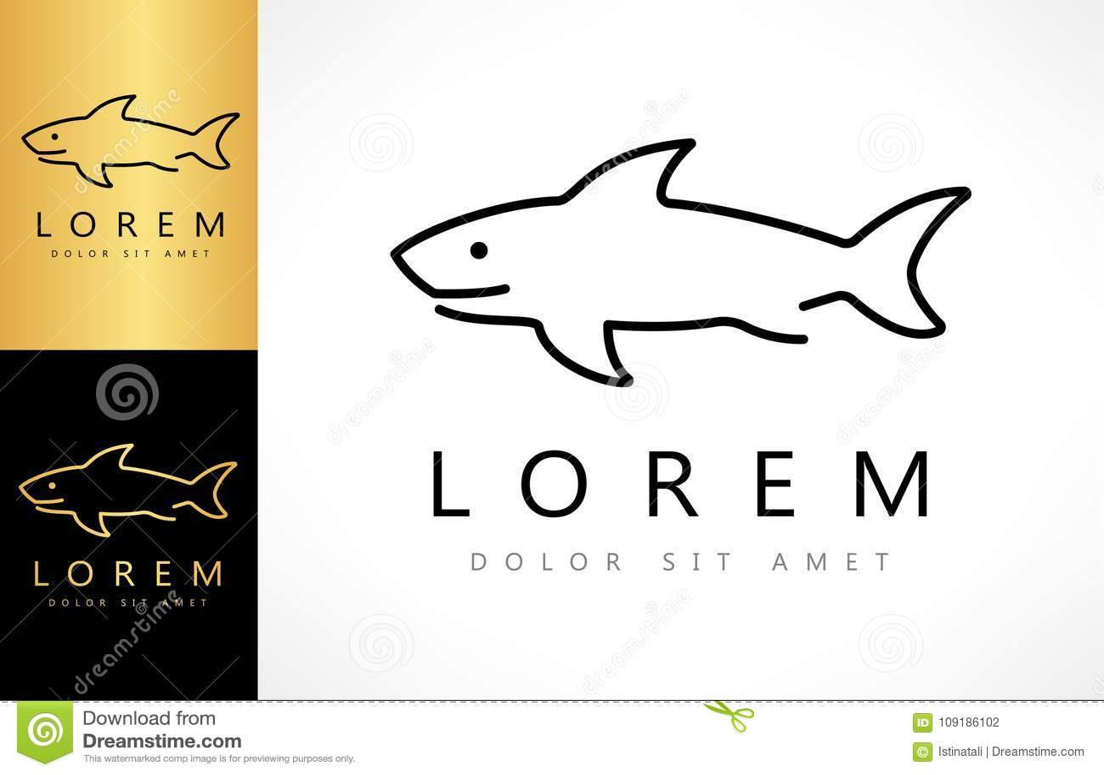 shark logo vector stock vector illustration of graphic 109186102