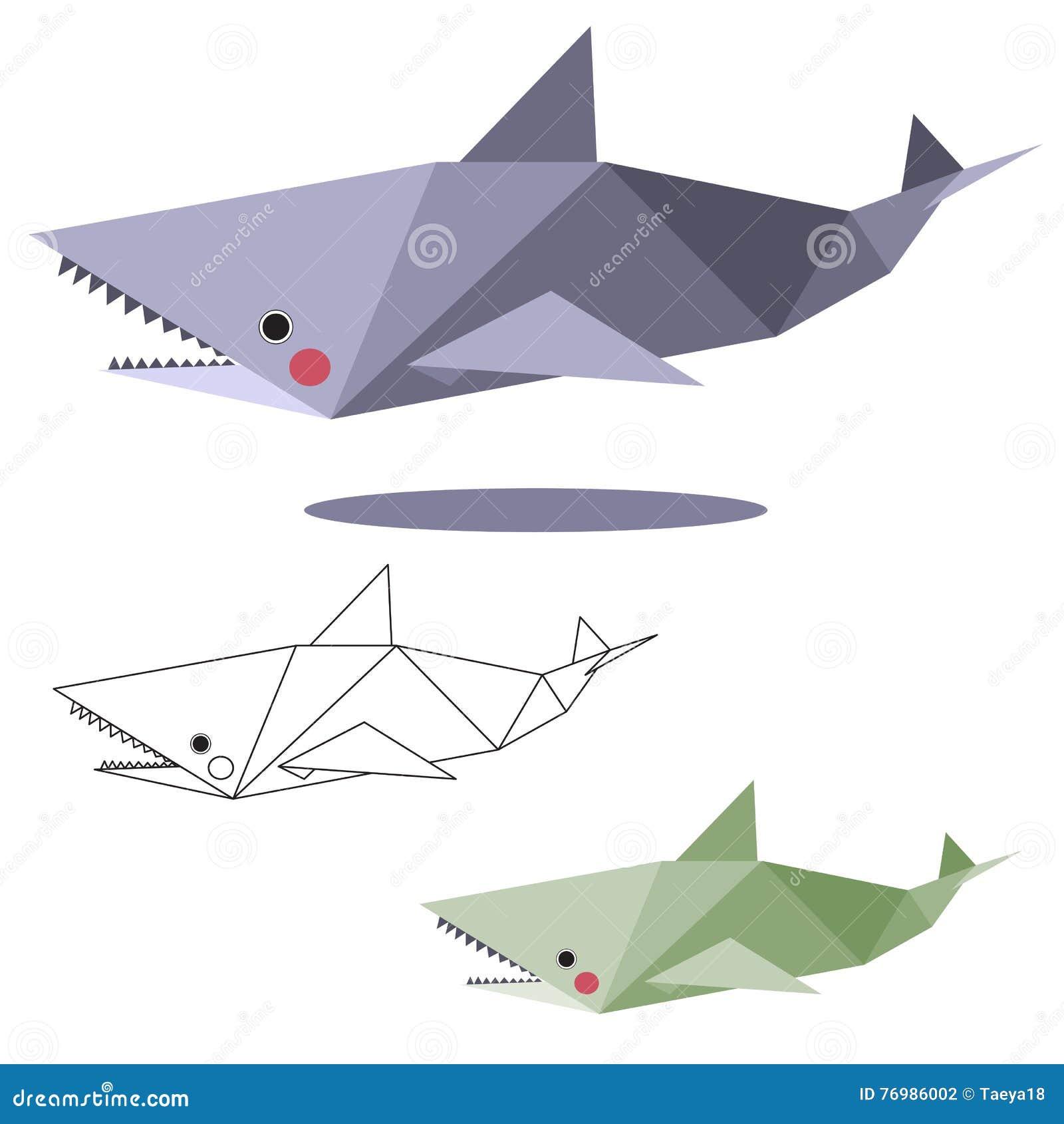 Shark Low Polygon Stock Vector Illustration Of Decorative 76986002