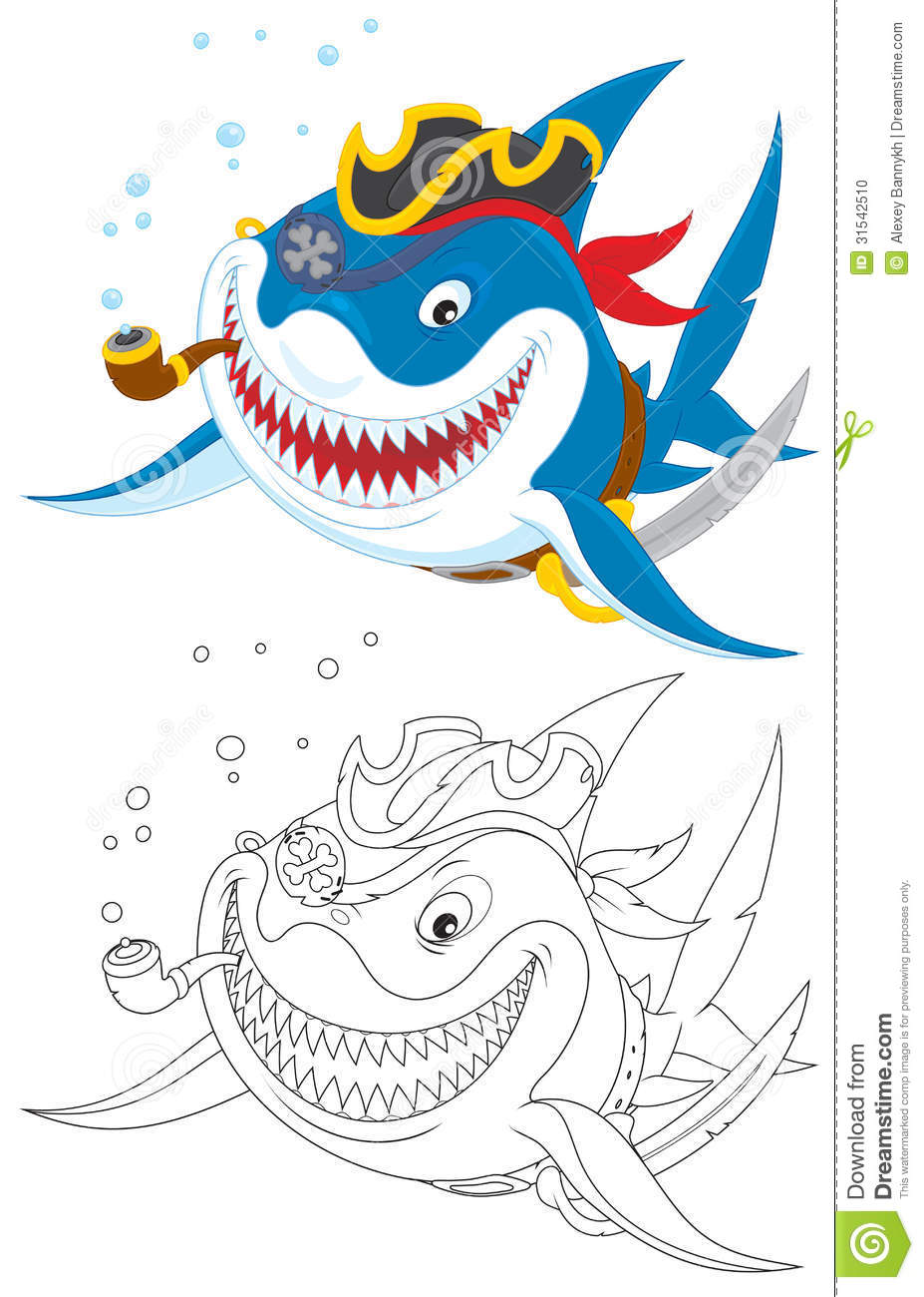 shark pirate stock photo image 31542510