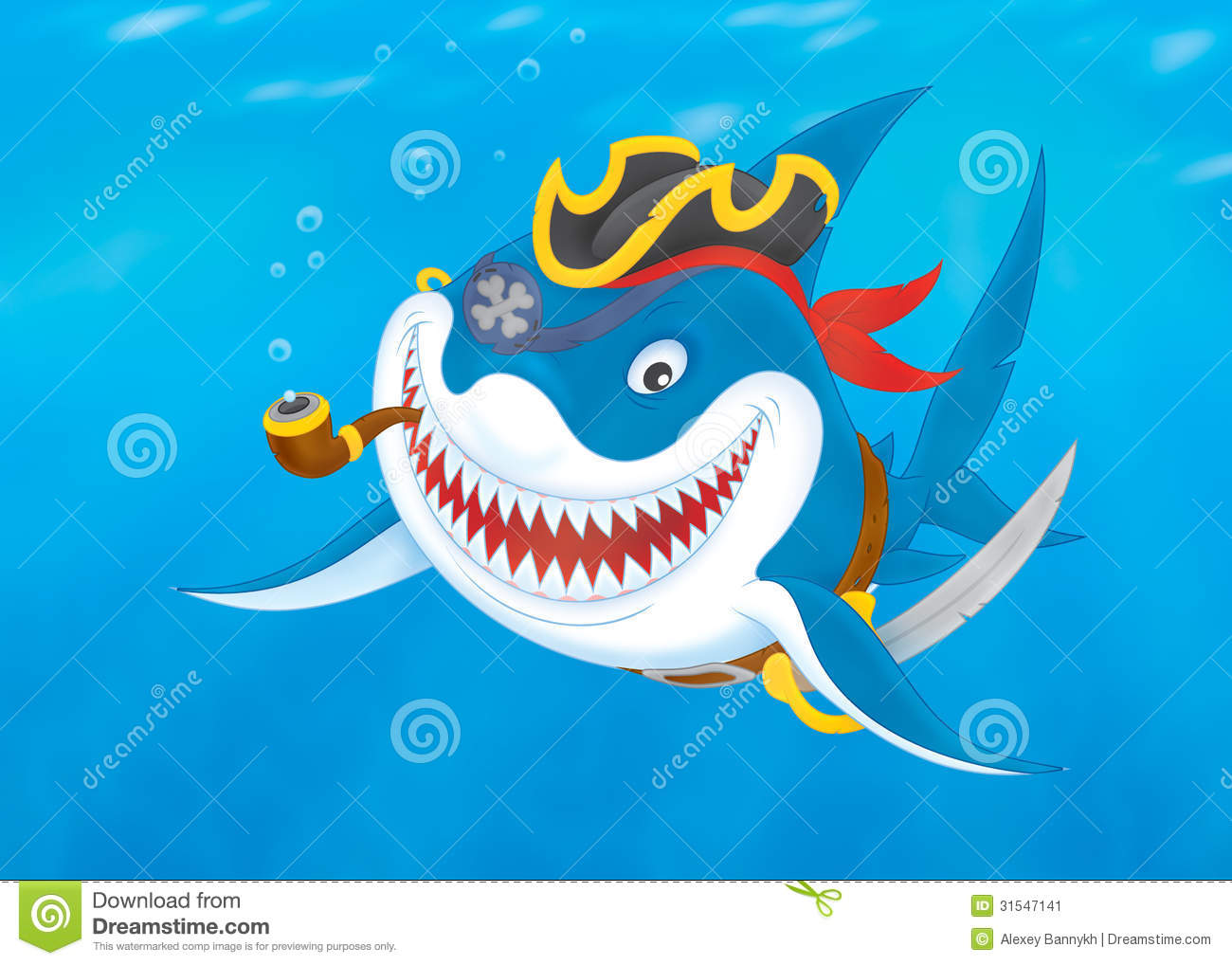 How To Filibuster >> Shark Pirate Stock Image - Image: 31547141