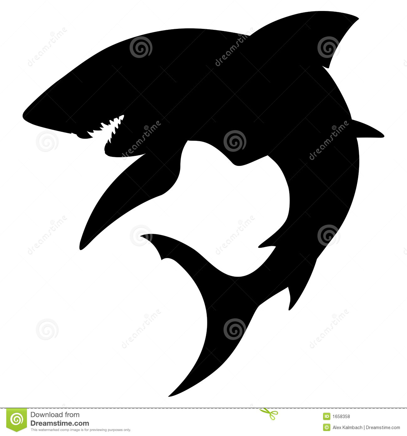 Shark Silhouette Royalty Free Stock Photos Image 1658358