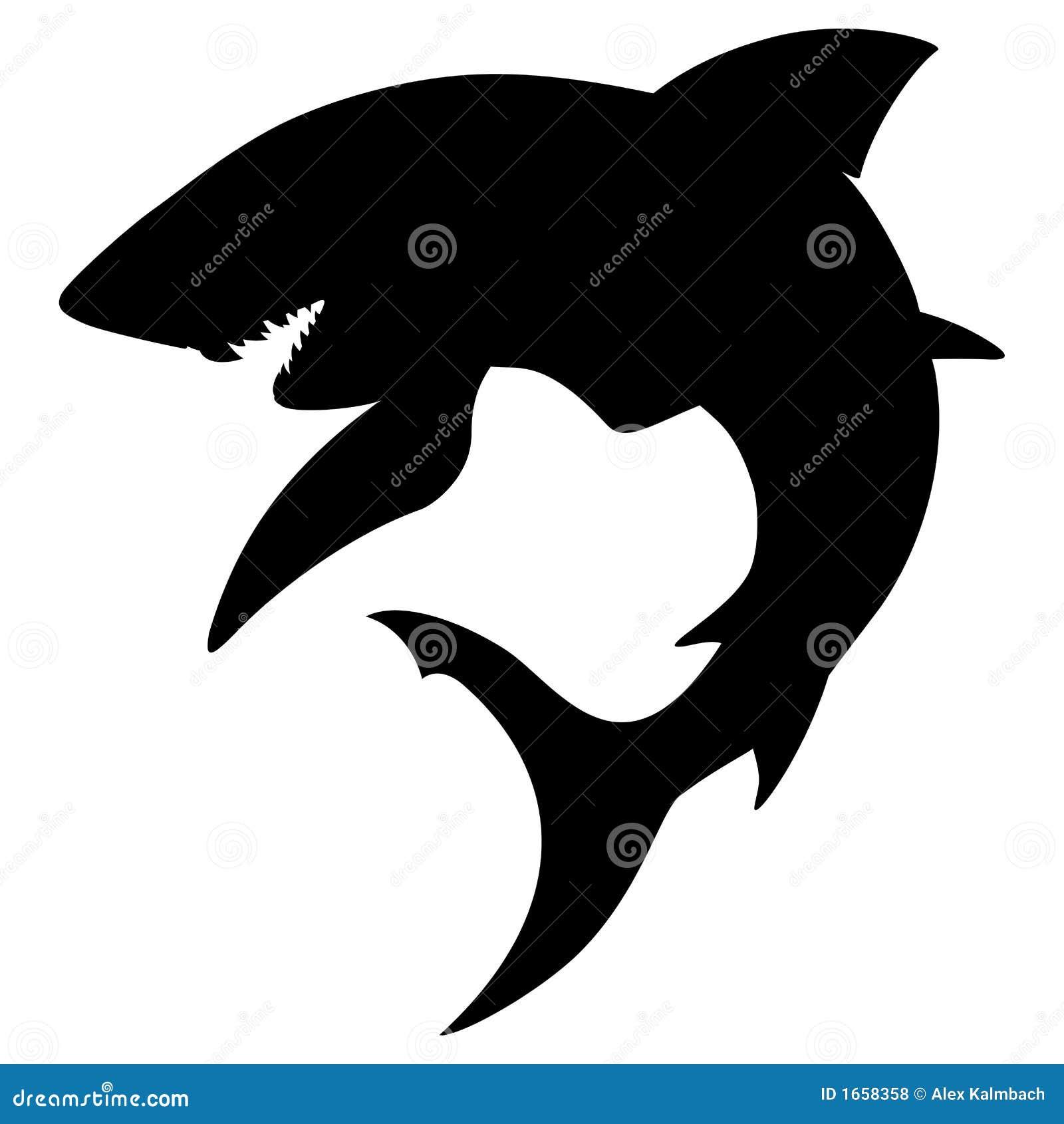 Shark Silhouette Royalty Free Stock Photos Image 1658358