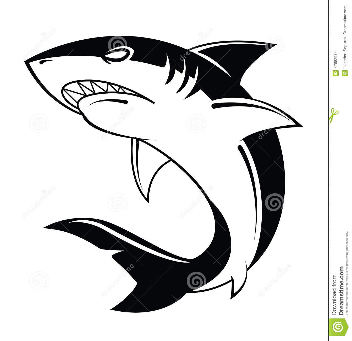 shark vector illustration stock vector illustration of