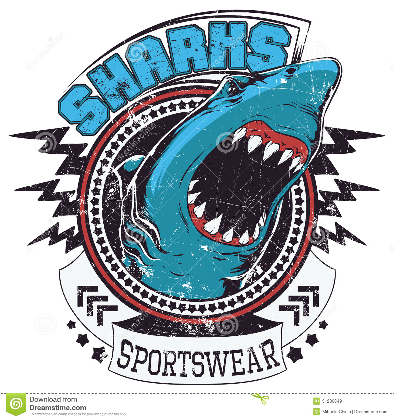 Sharks Sportswear Royalty Free Stock Images - Image: 31236849