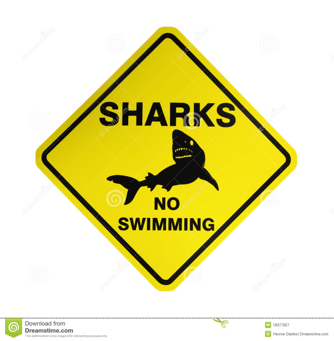 Sharks - Warning Sign Royalty Free Stock Photography - Image: 18377827