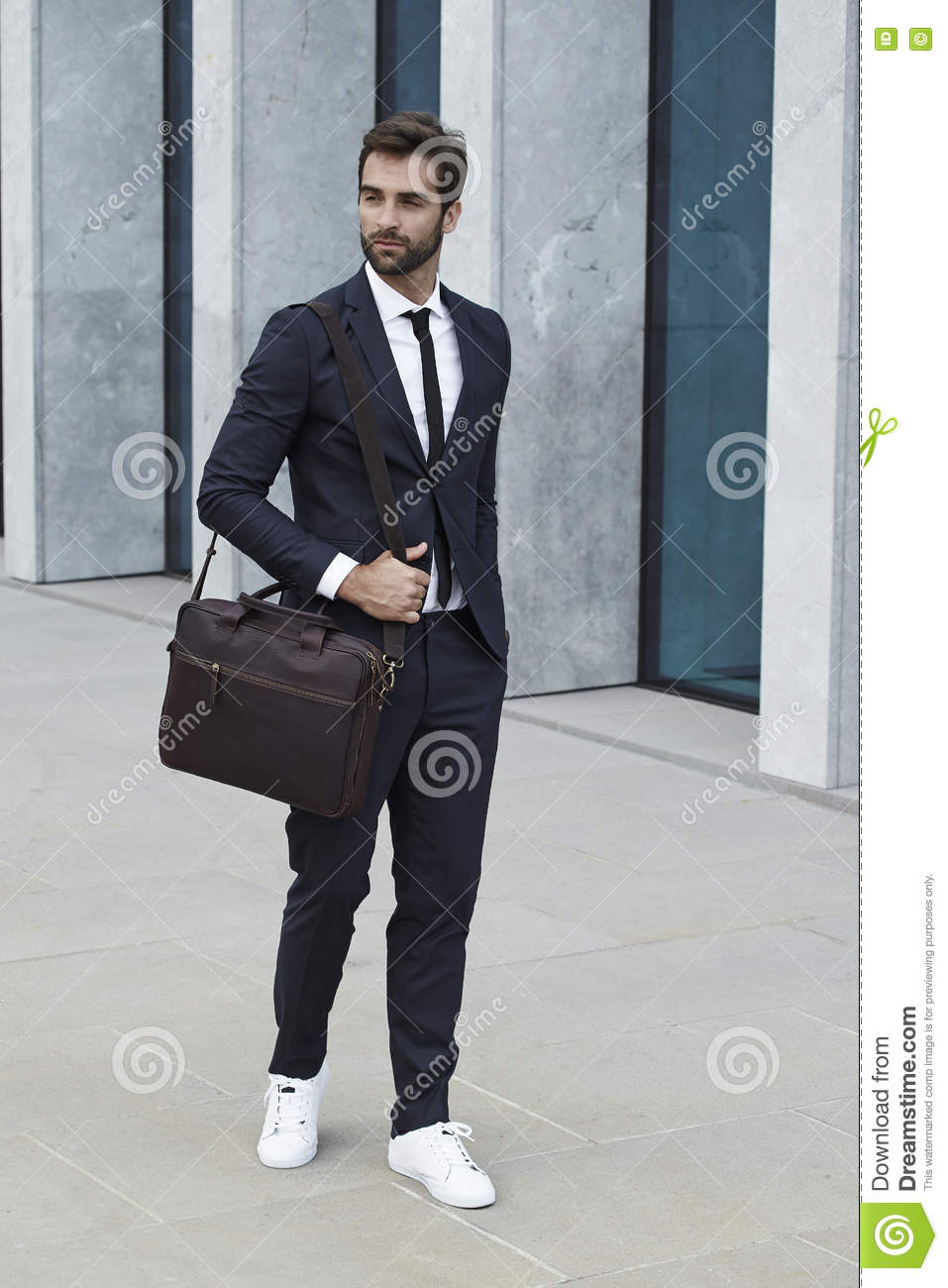 Sharp businessman in suit and tie