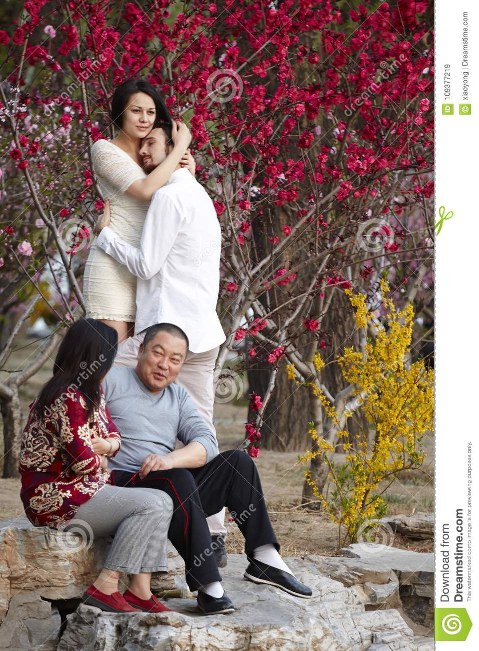 Sharp contrast of western couples and China traditional couples