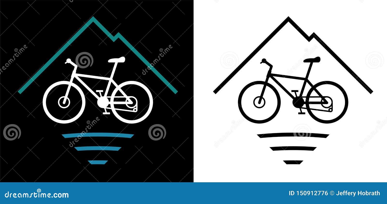 Outdoor Mountain Bike Logo Vector Illustration