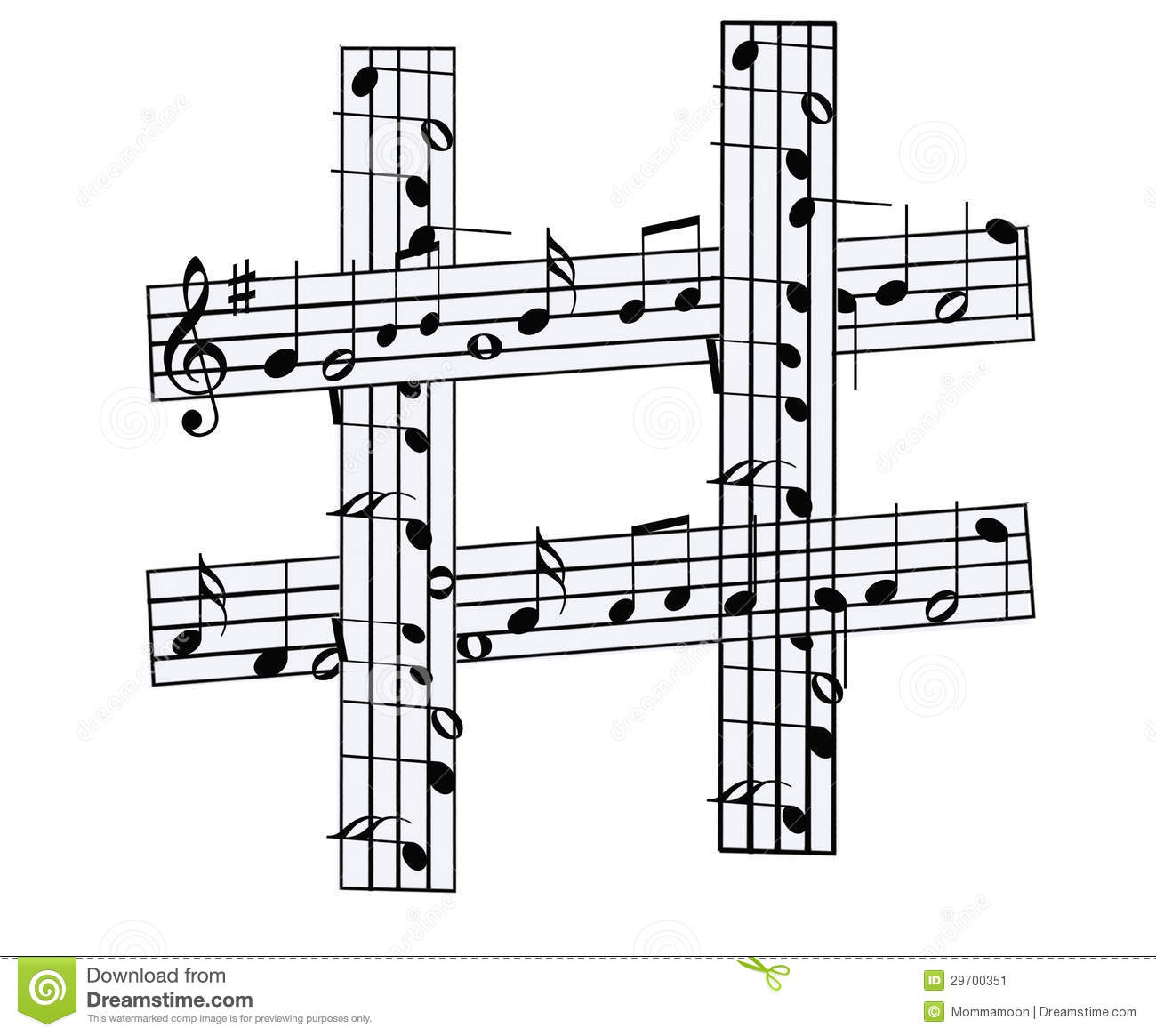 Sharp symbol with bars of musical notes stock illustration sharp symbol with bars of musical notes biocorpaavc Image collections