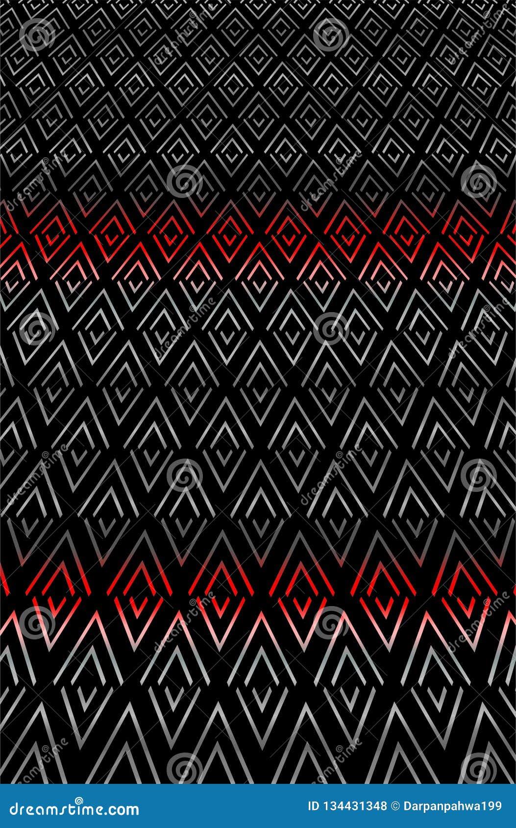 Sharp Zigzag rhombus texture pattern in gradation