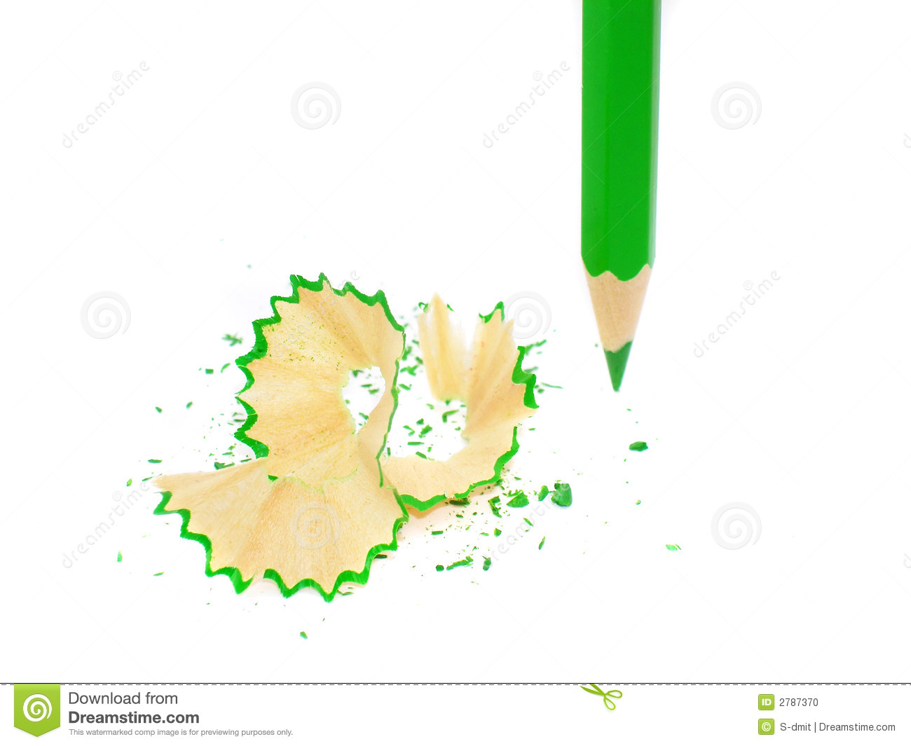 Sharpened pencil on white