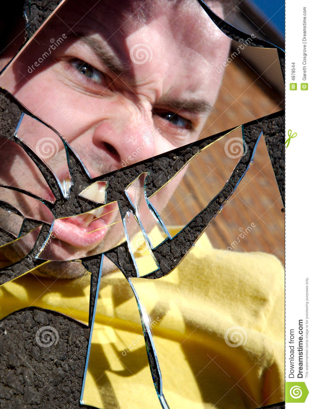 Shattered Anger Stock Images - Image: 4878544