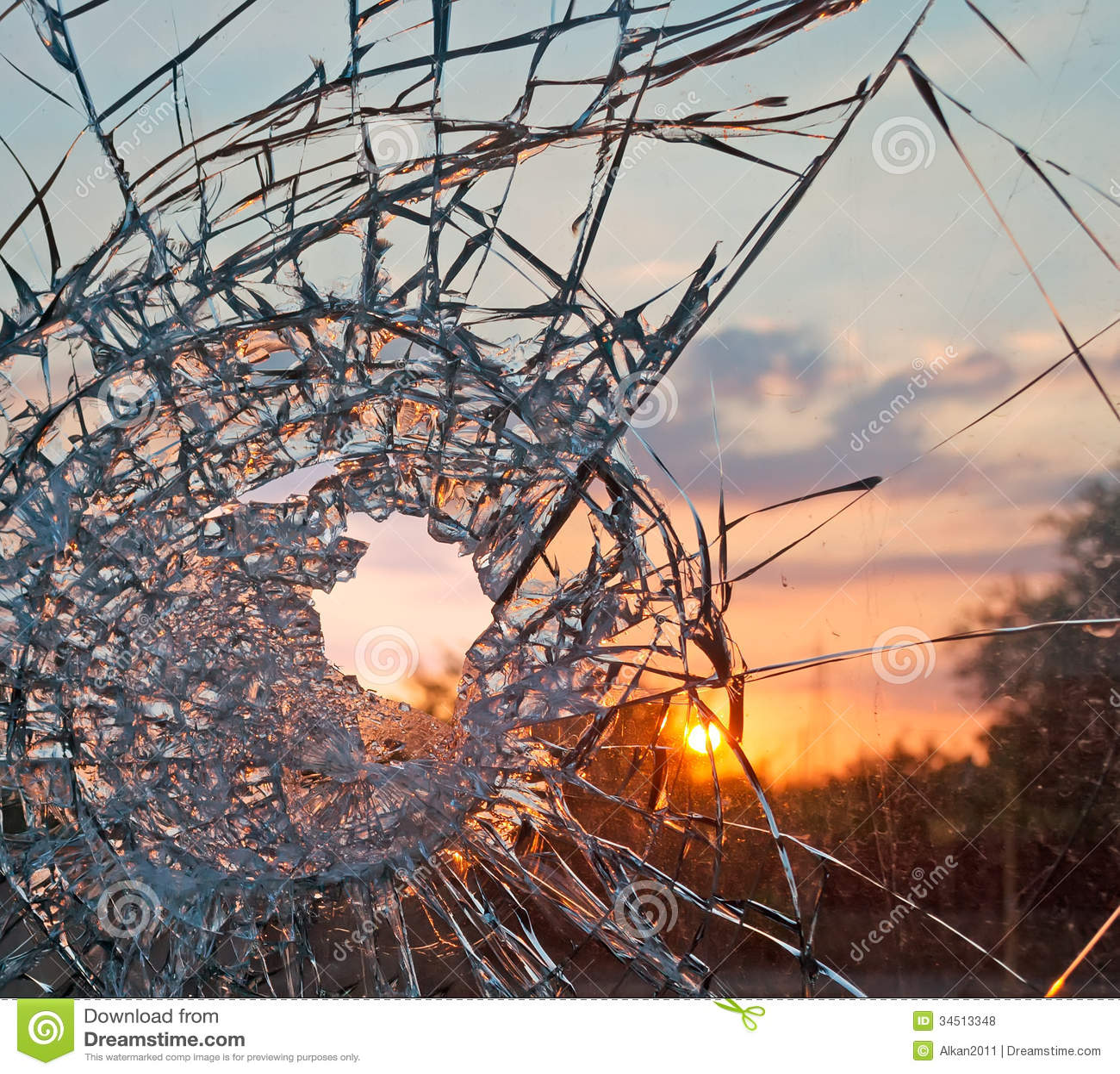 Broken Glass Sunset