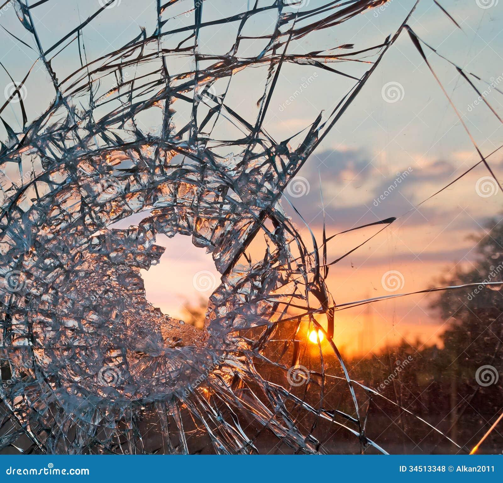 Broken Glass Windows Free Stock Photo