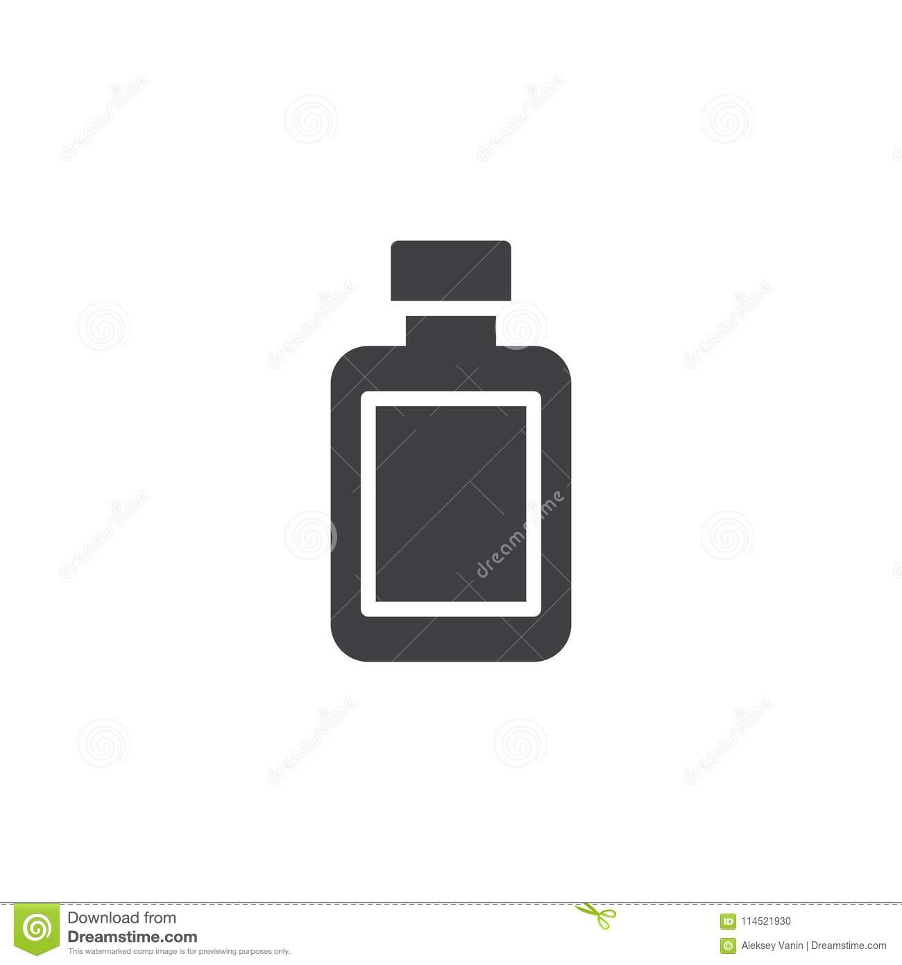 After shave lotion bottle vector icon
