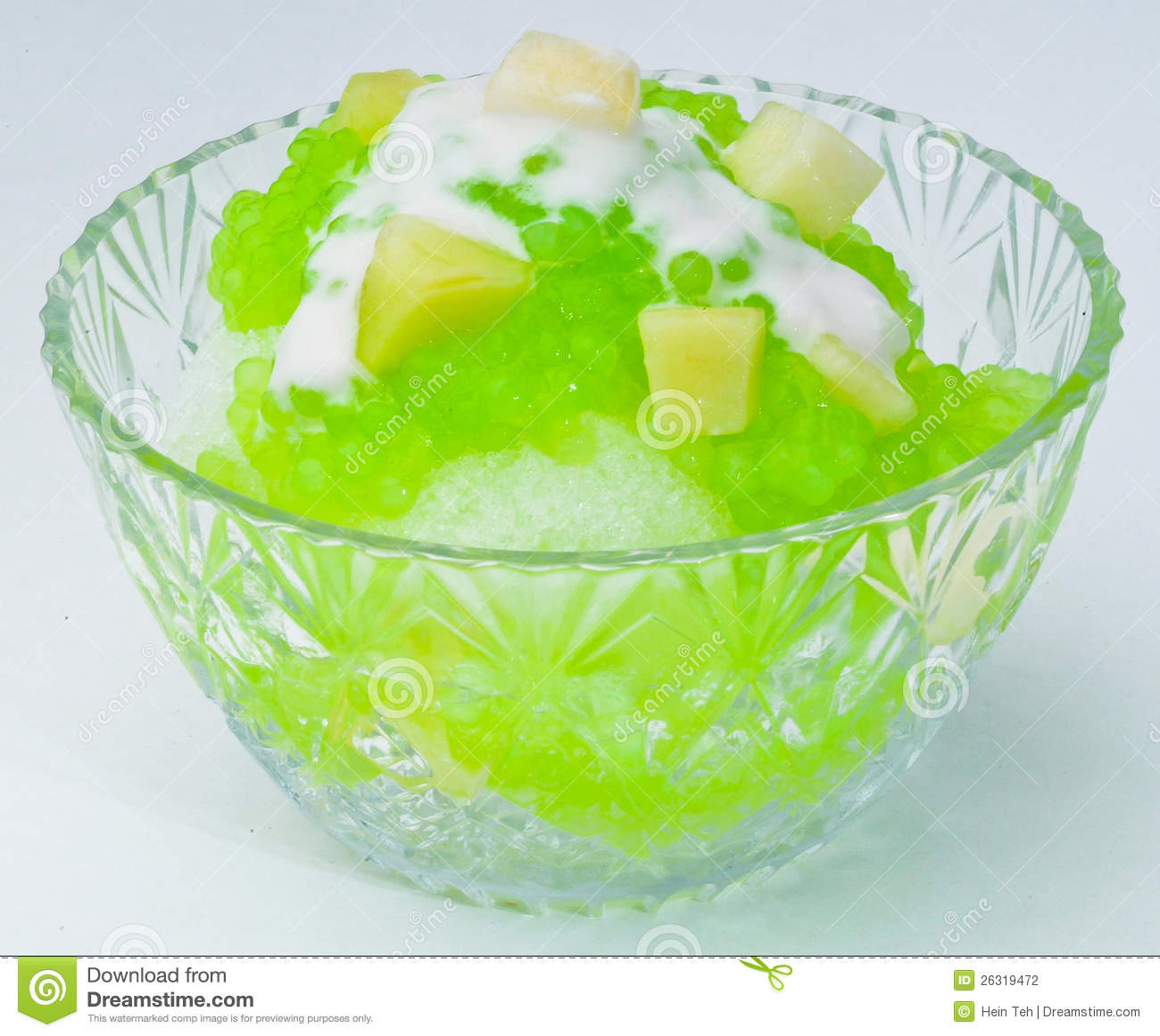 Shaved Ice Dessert And Fresh Fruits Stock Photography - Image ...