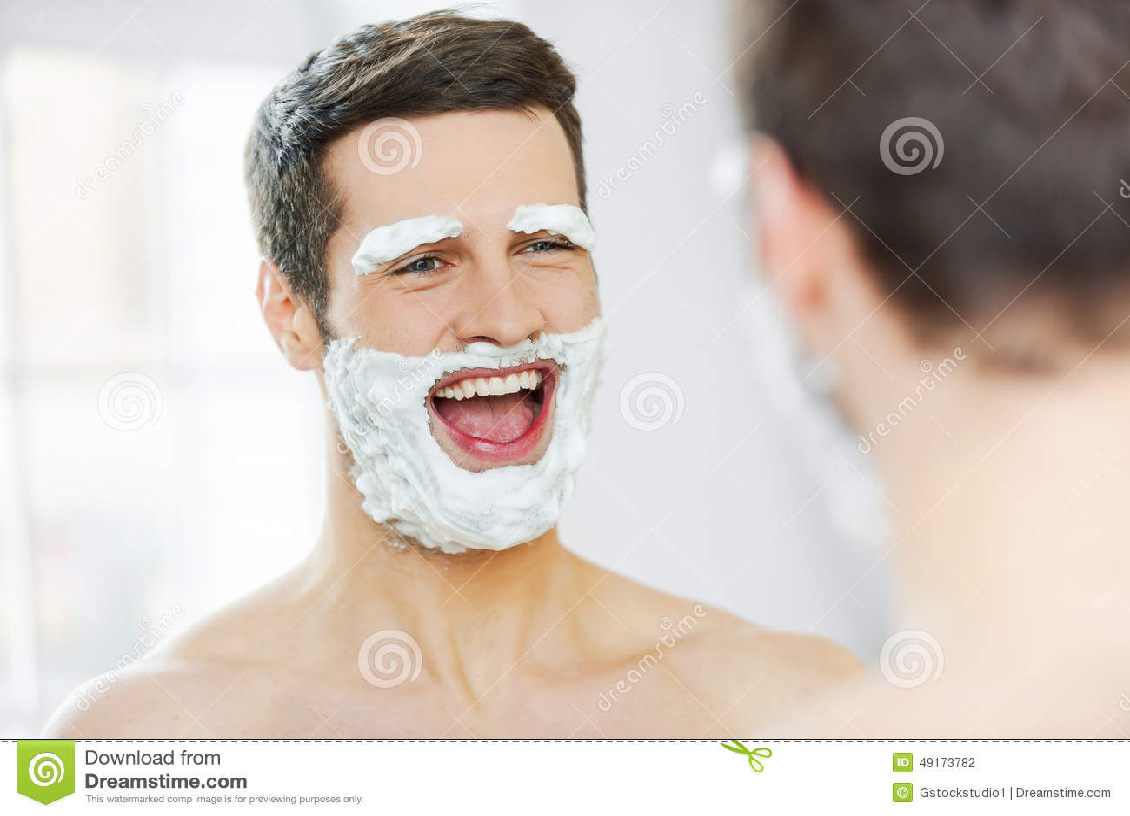 Shaving with fun.