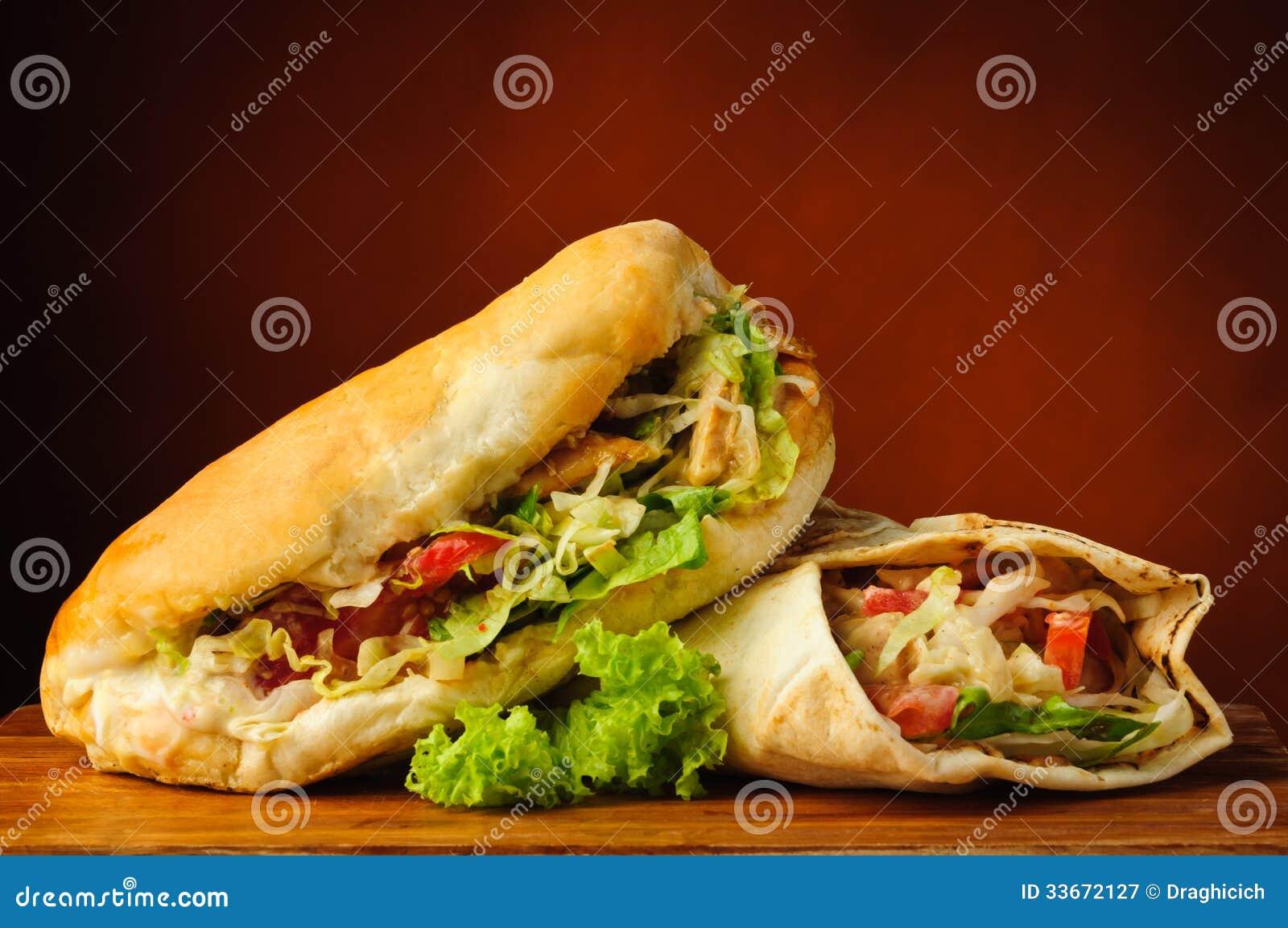 Shawarma and kebab