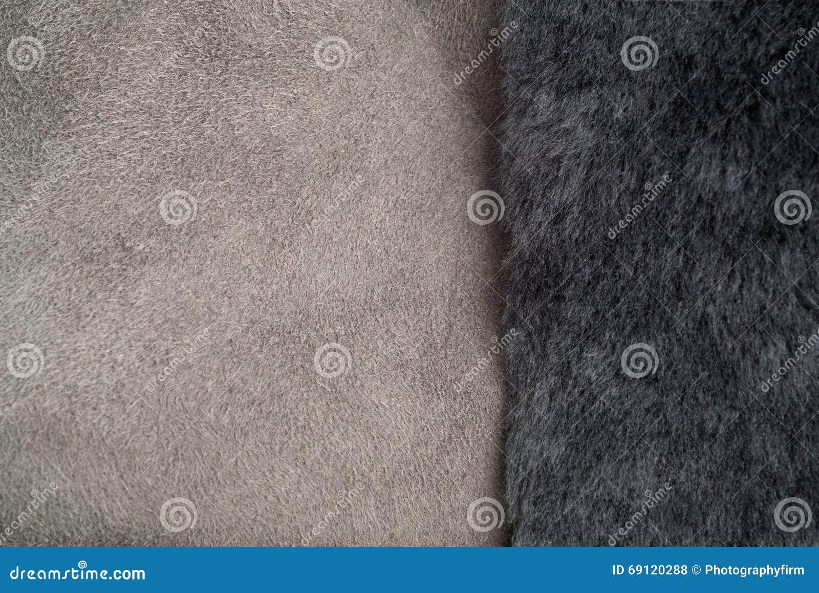 Shearling de Grey Fur On Light Grey