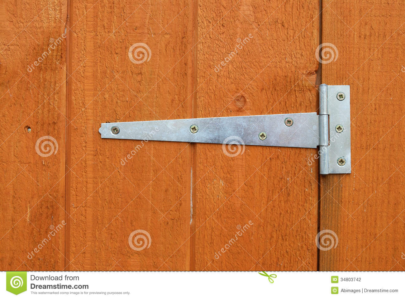 Shed Door Hinge Stock Photography - Image: 34803742