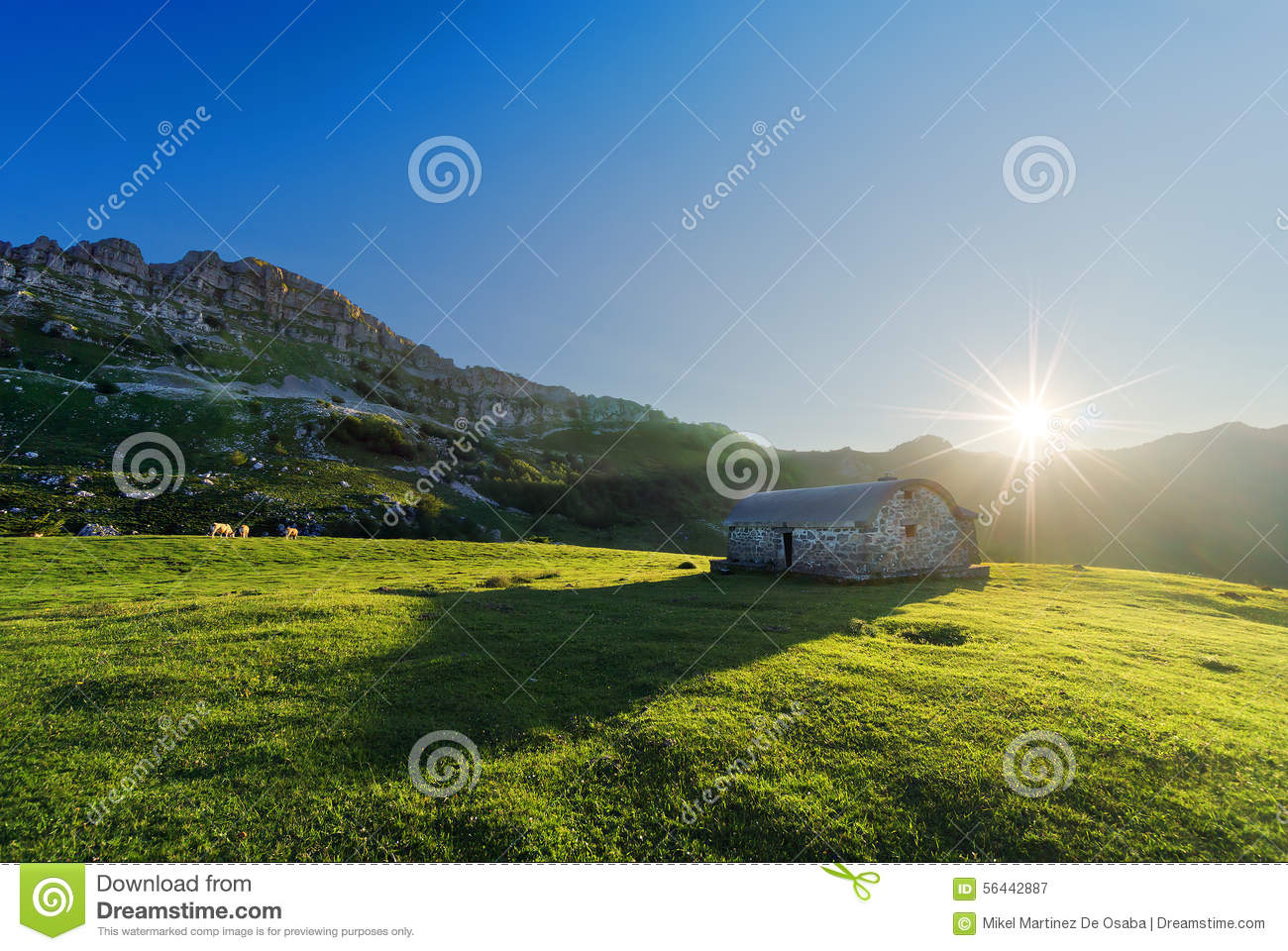 Stone Shed In Mountain Stock Photo Cartoondealer Com