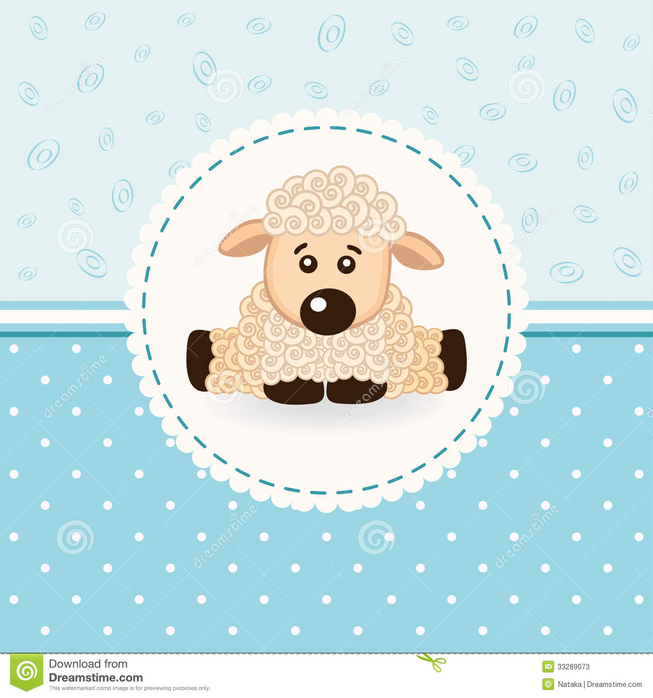 Sheep baby stock vector. Illustration of background, sheep - 33289073 for Baby Lamb Clipart  66pct