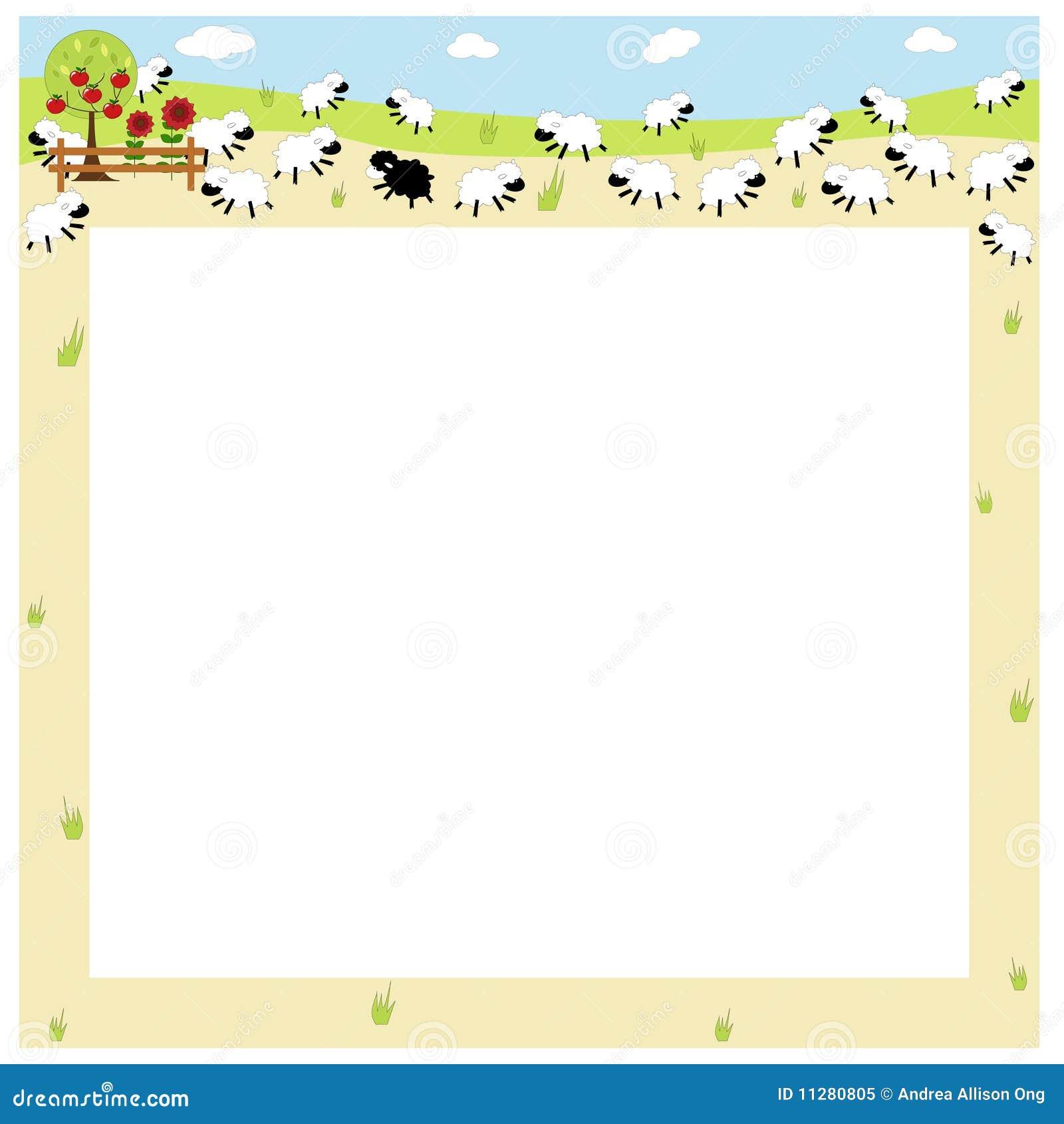 sheep border royalty free stock photo image 11280805 basketball border clip art free baseball border clip art