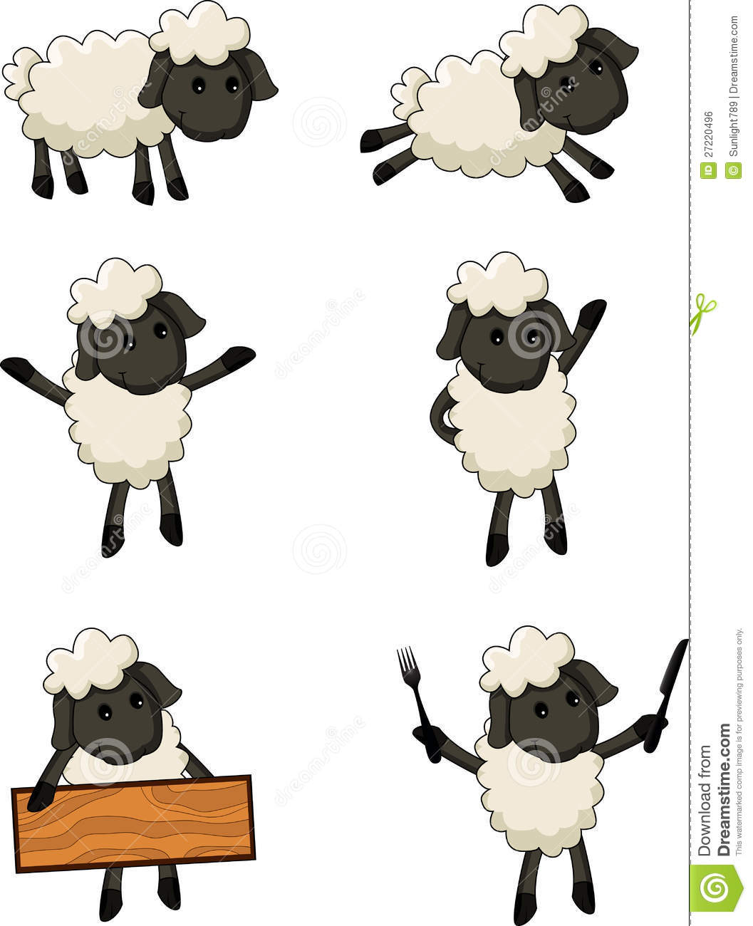 Sheep Cartoon Character Royalty Free Stock Image - Image: 27220496