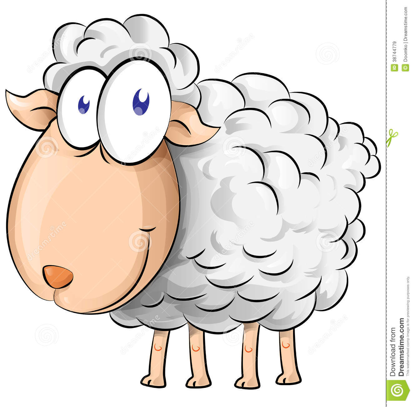 Sheep cartoon stock vector illustration of clipart for Free clipart no copyright