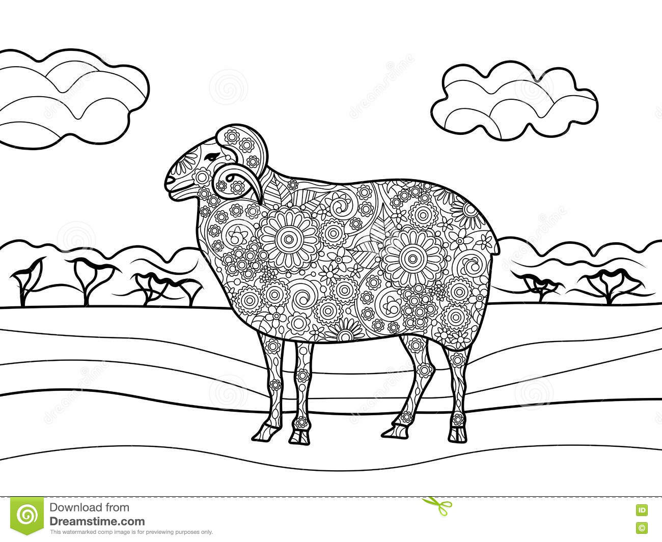 Lamb Coloring Pages For Adults Lamb Best Free Coloring Pages
