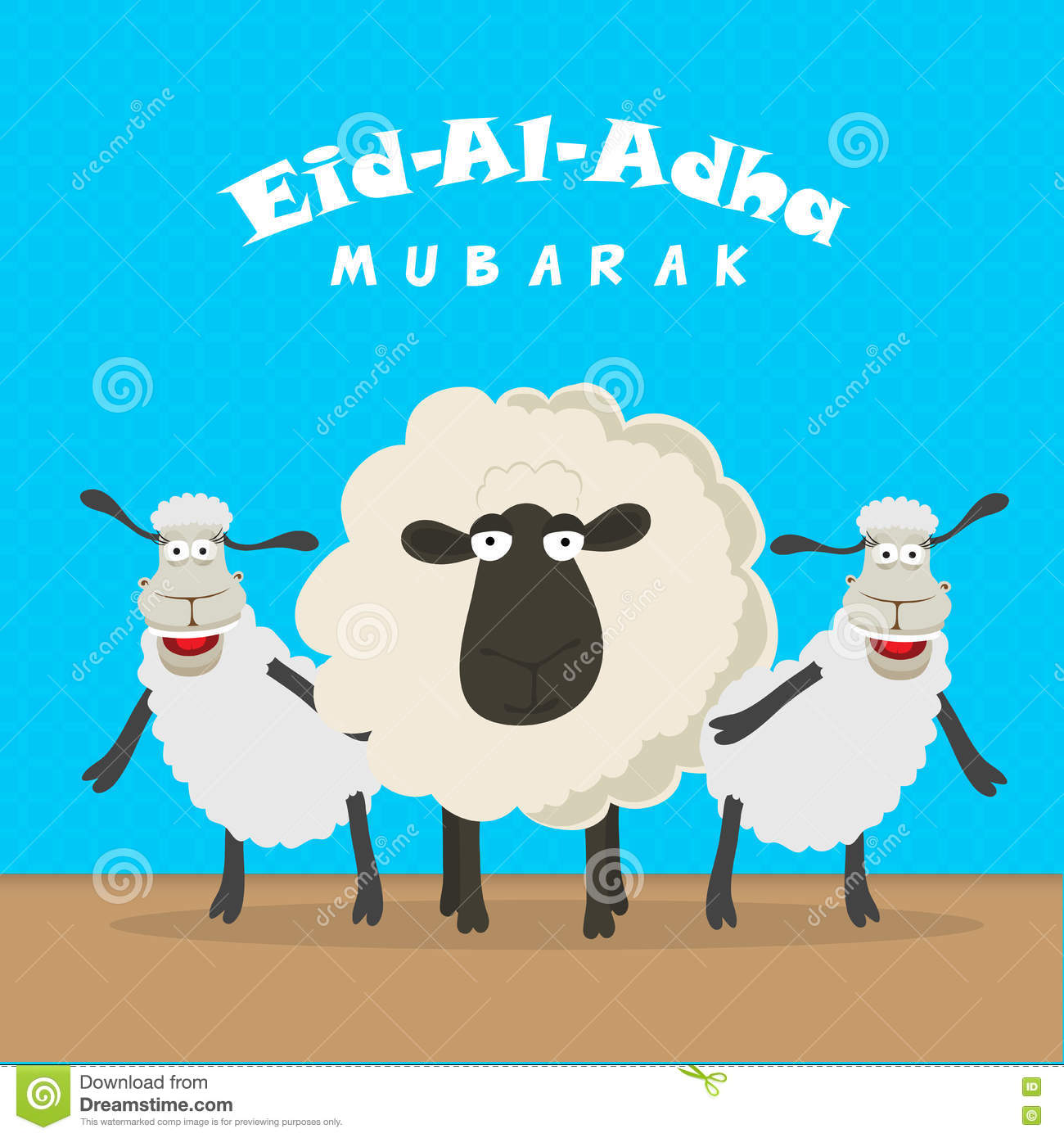 Sheep For Eid Al Adha Mubarak Stock Illustration Illustration Of