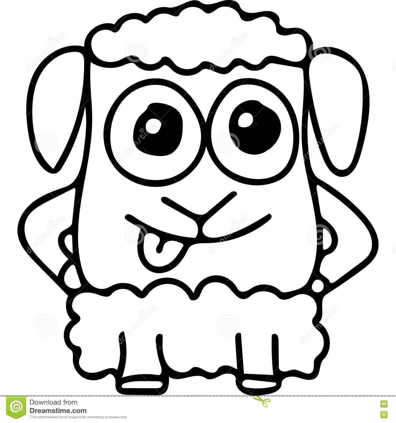 Sheep kids coloring page stock illustration. Illustration of learn ...