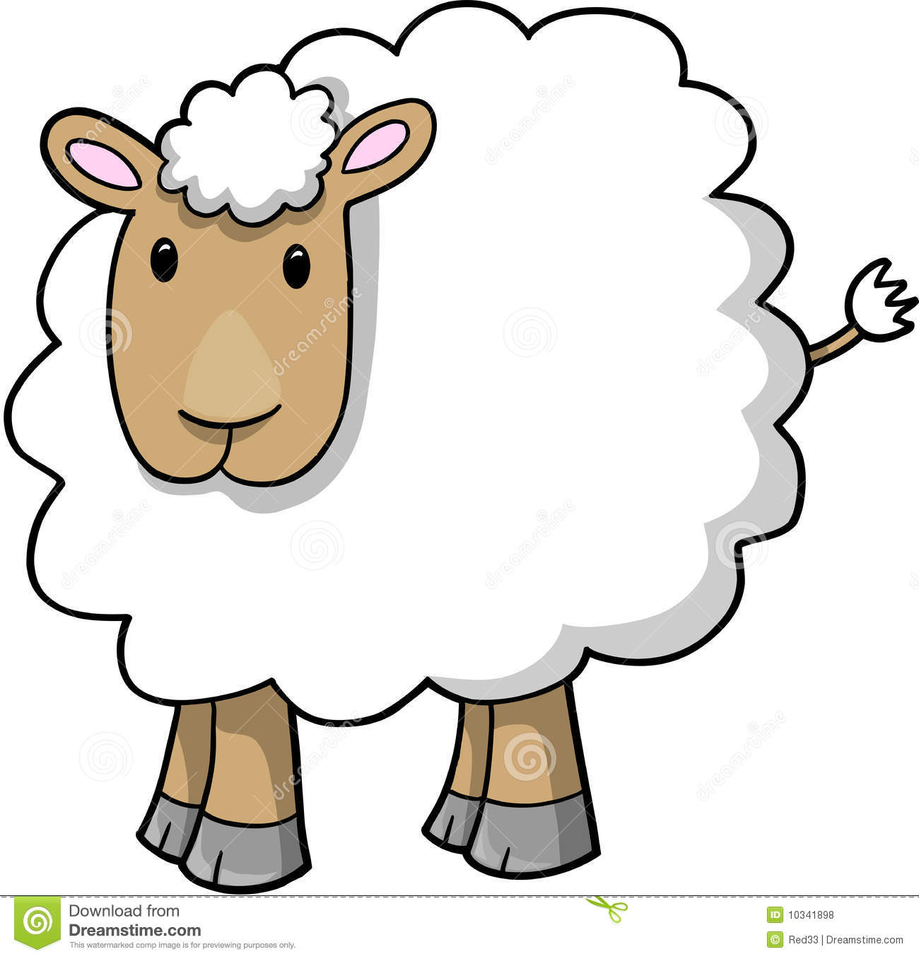 Royalty Free Stock Photos Sheep Lamb Vector Illustration Image10341898 on Happy Easter 2 Coloring Page