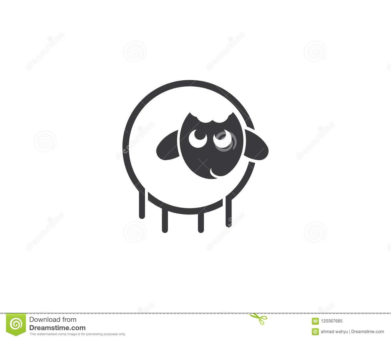 Sheep logo vector stock vector  Illustration of product