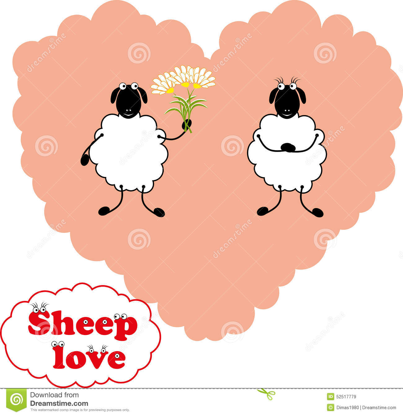 Remembrance Day Pearl Harbor >> Sheep Love Stock Vector - Image: 52517779