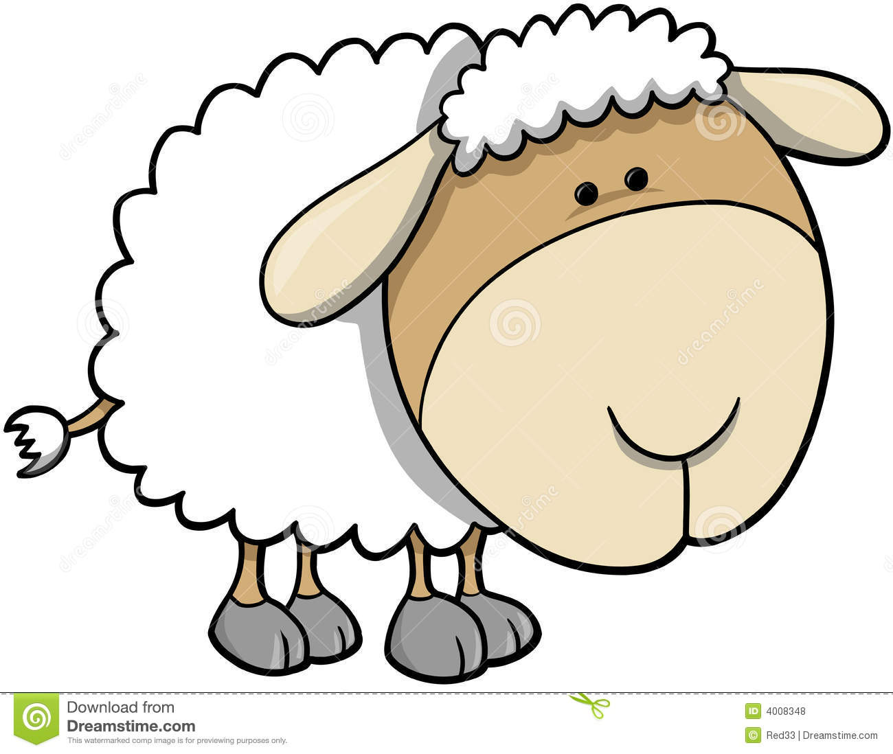 Cute Sheep Clip Art Cute lamb sheep vector