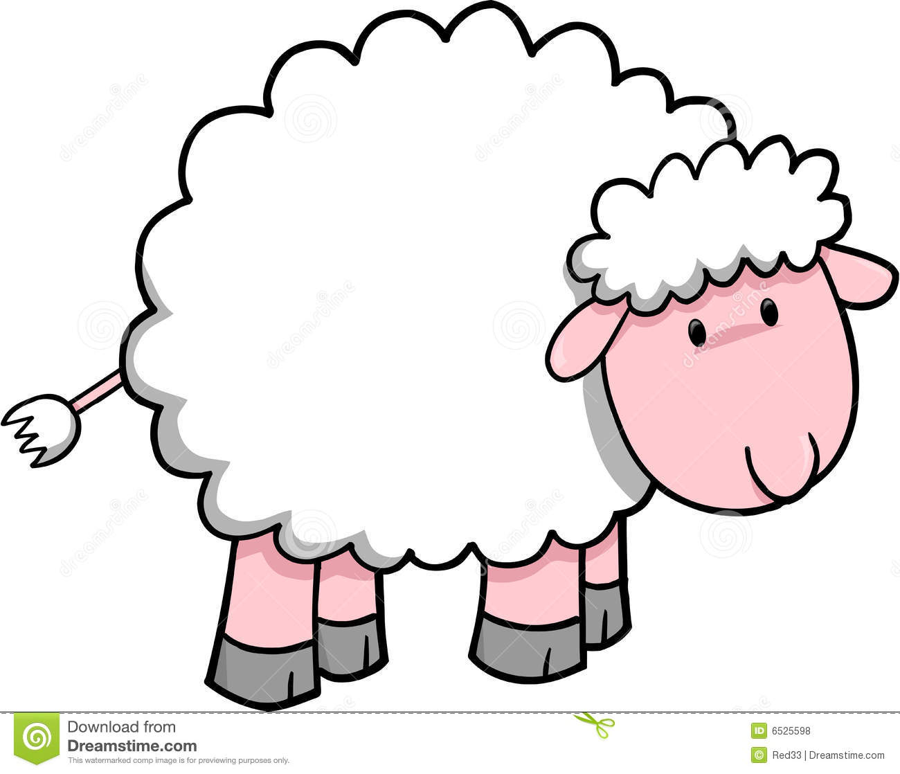sheep vector illustration stock vector illustration of sweet 6525598 rh dreamstime com Lamb Silhouette Lamb Clip Art Black and White