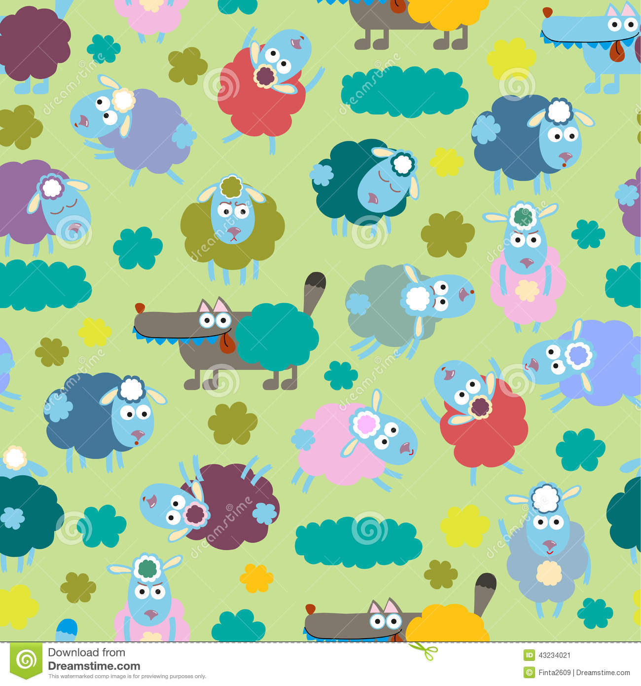 Sheep And Wolf Stock Vector Illustration Of Design Childhood