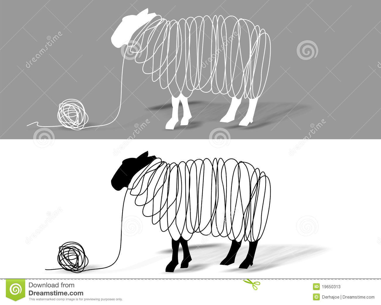 Knitting Sheep Clipart : Sheep wool stock illustration image of shadowy