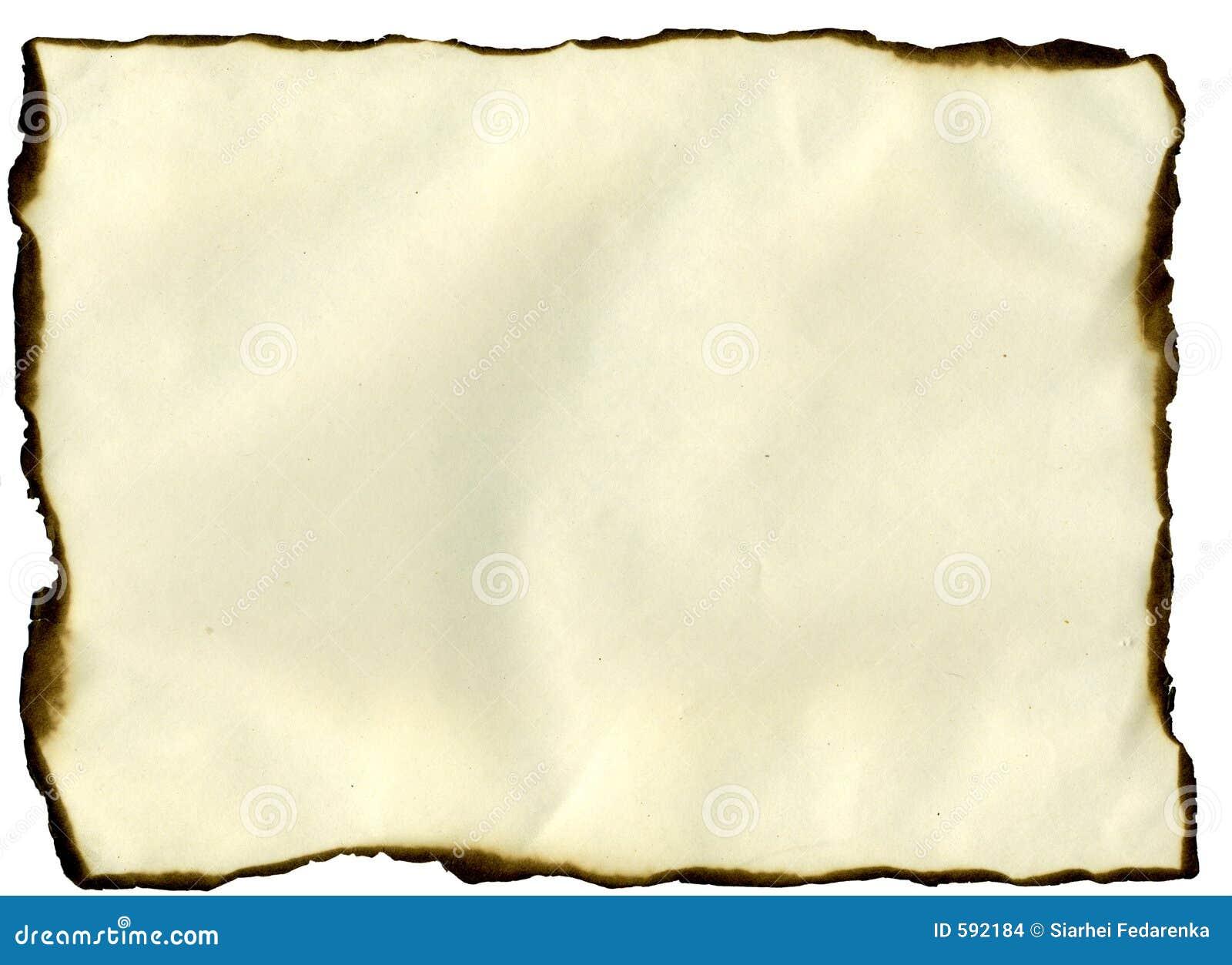 Sheet With Burned Edges Stock Images - Image: 592184