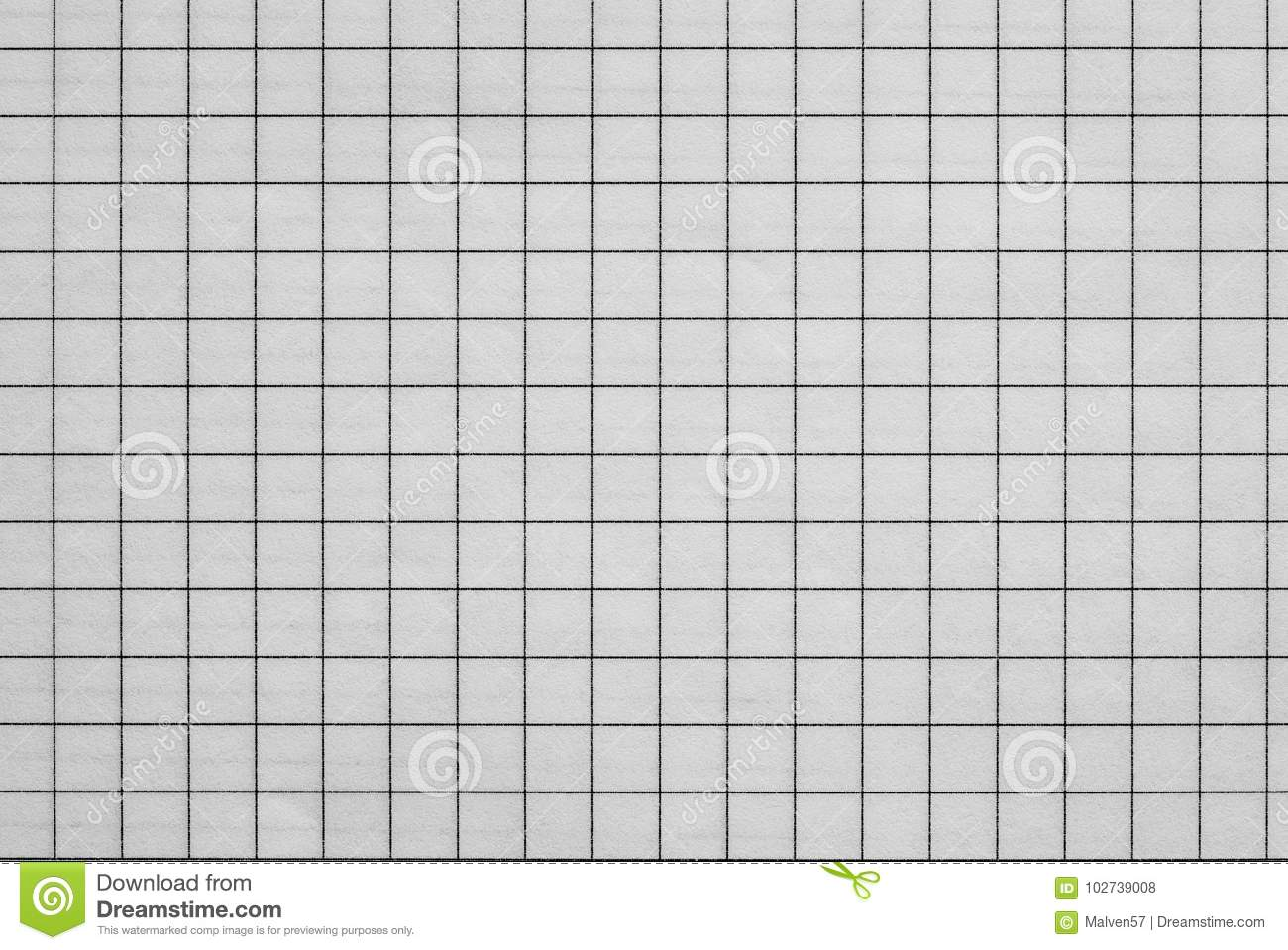 Sheet Of Checkered Paper Stock Photo Image Of Background 102739008