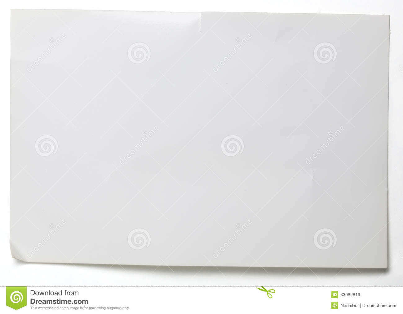 Sheet Of Crumpled Glossy Paper On White Royalty Free Stock Images ...