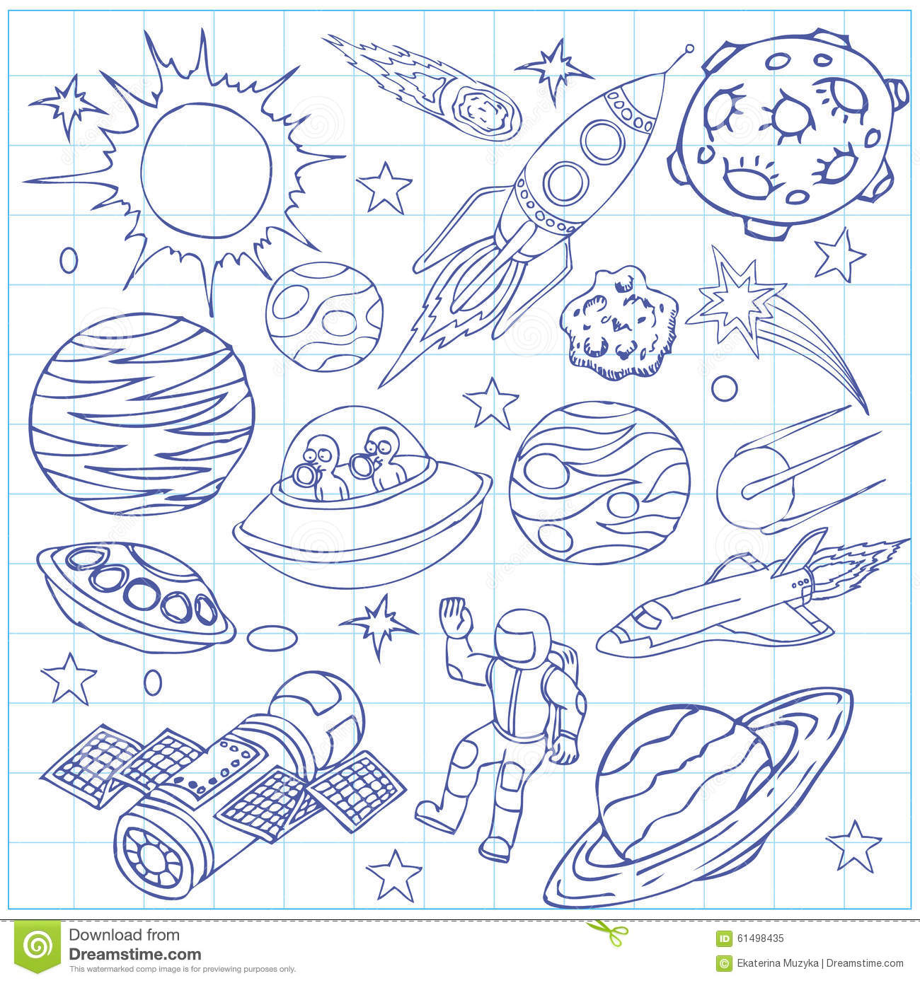 astronomy doodles - photo #17