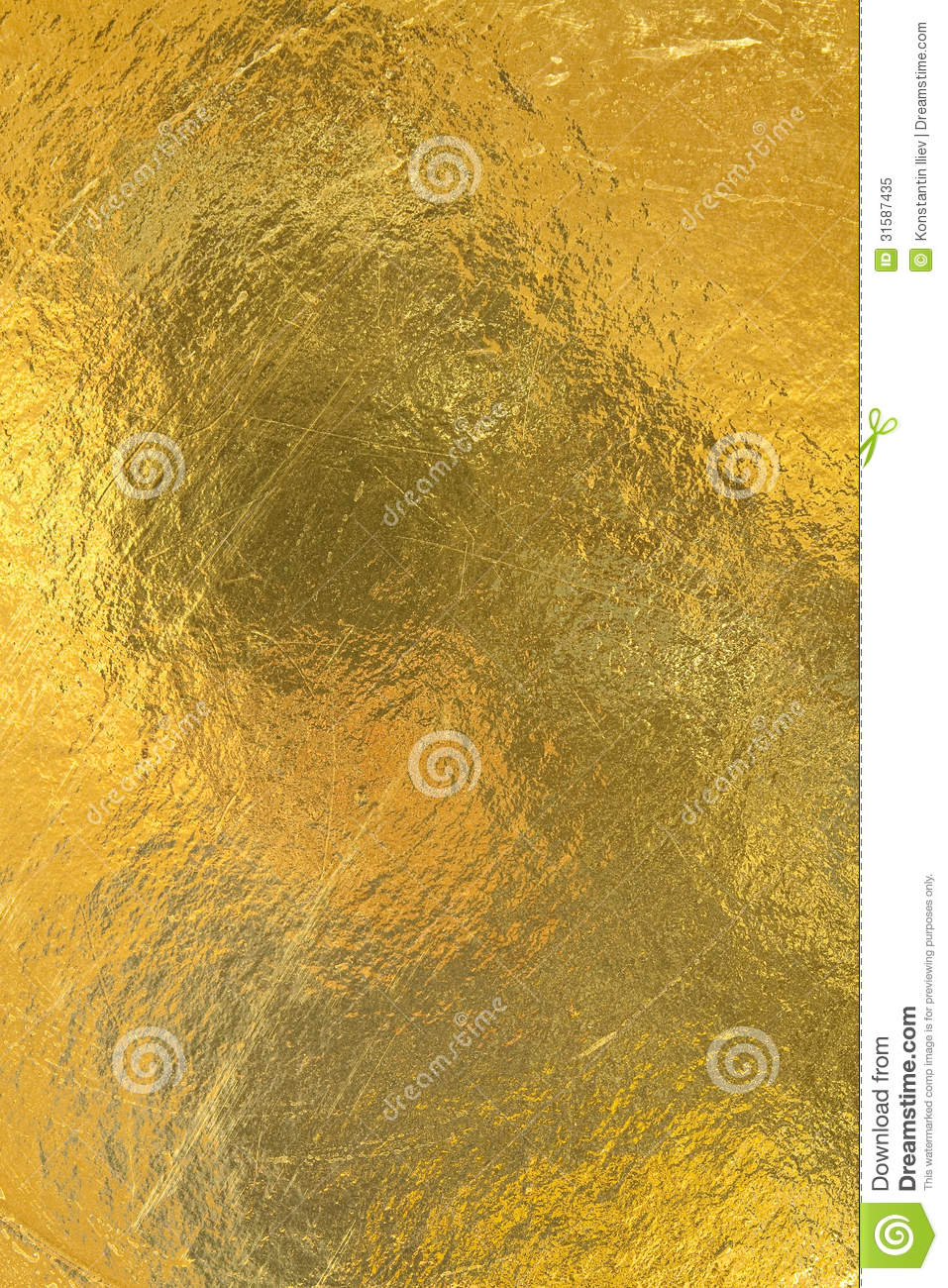 Sheet Of Gold Foil Royalty Free Stock Photo Image 31587435