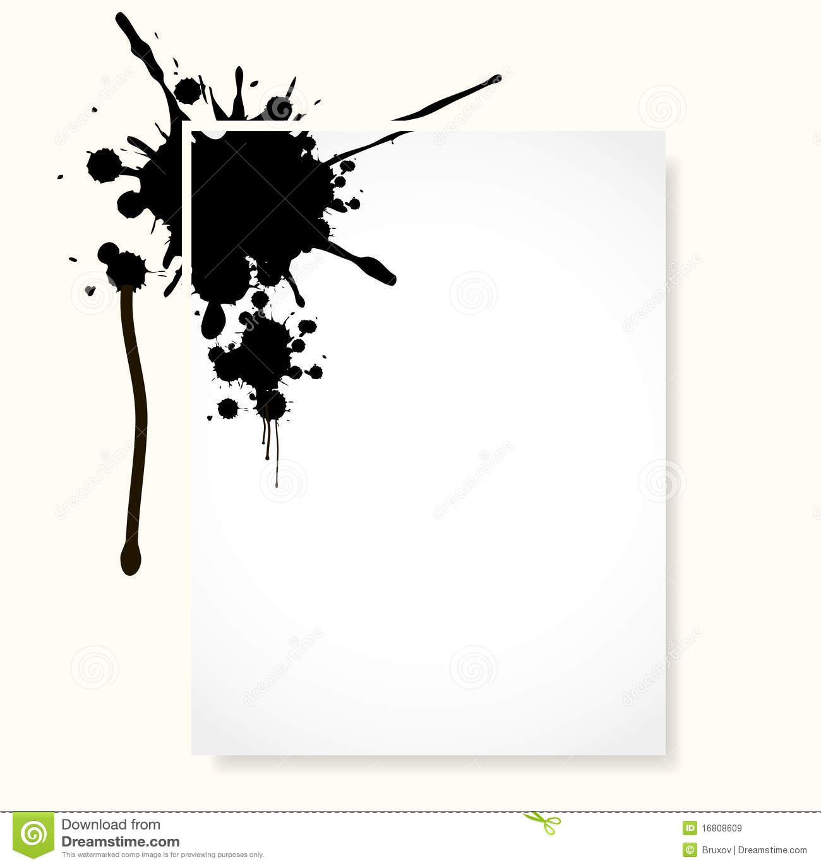 Sheet with inkblot