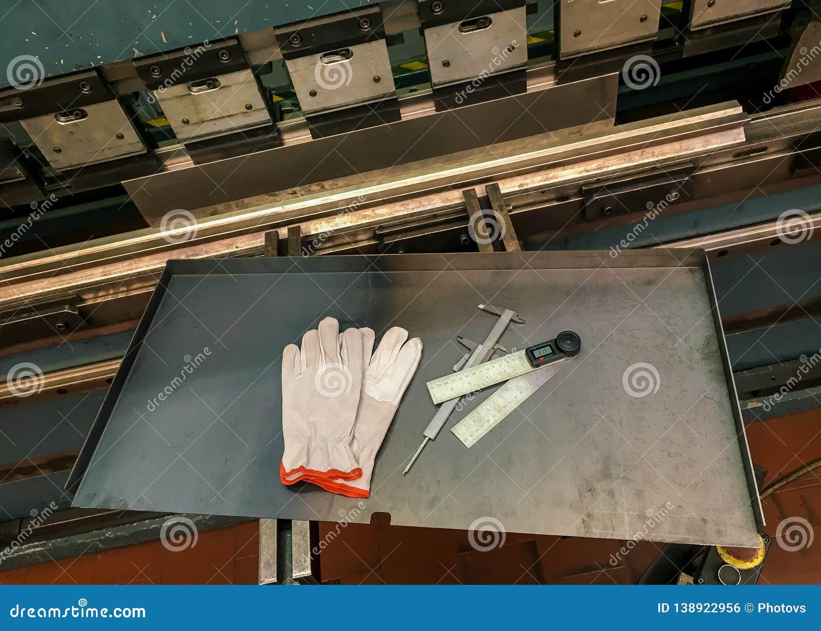 Sheet Metal Bending In Factory Stock Photo - Image of fabrication
