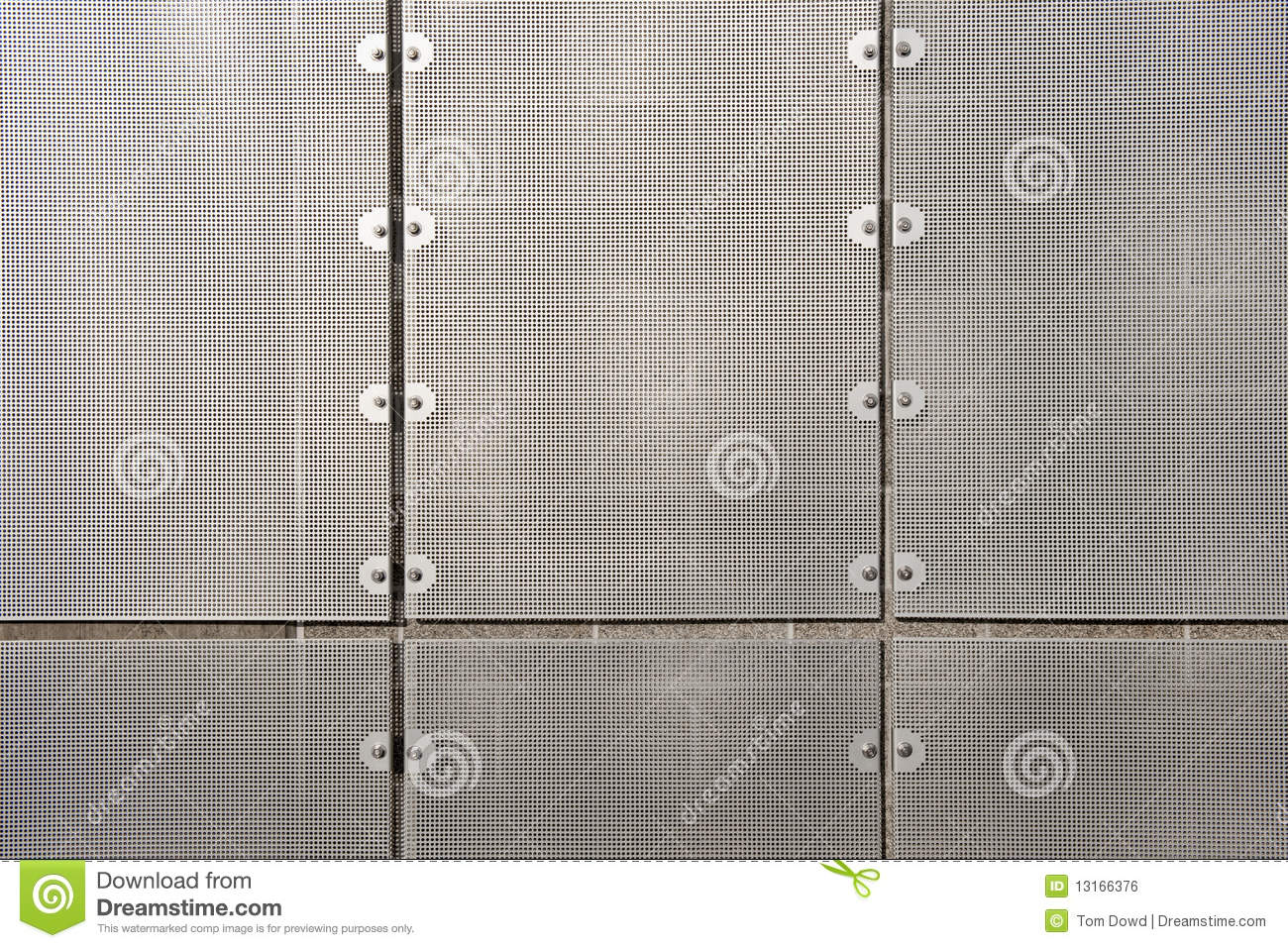 Sheet Metal Wall Screen Stock Photo Image Of Modular