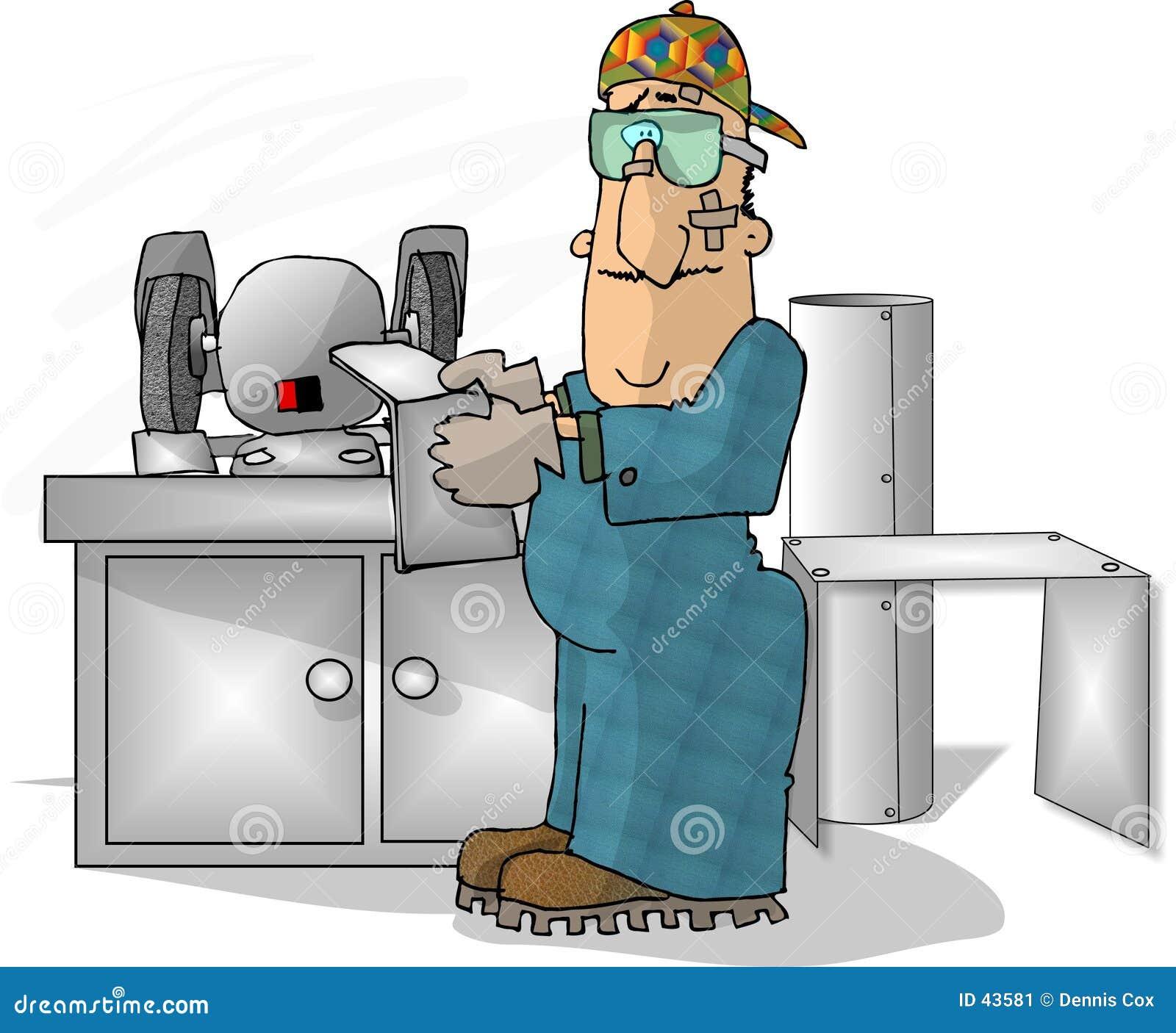 Sheet Metal Worker Stock Image Image 43581